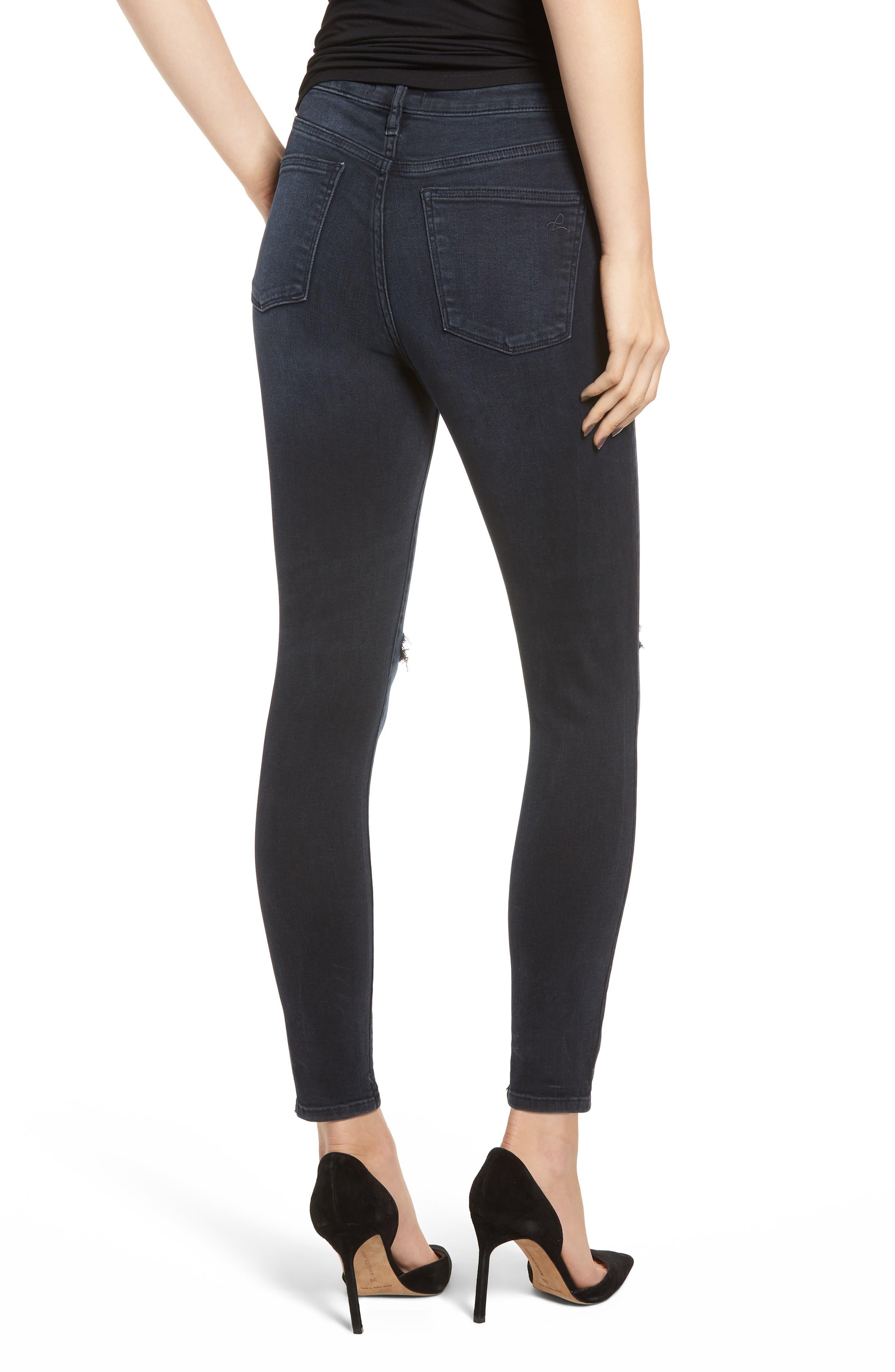 Chrissy Ultra High Waist Ankle Skinny Jeans,                             Alternate thumbnail 2, color,                             PORTER