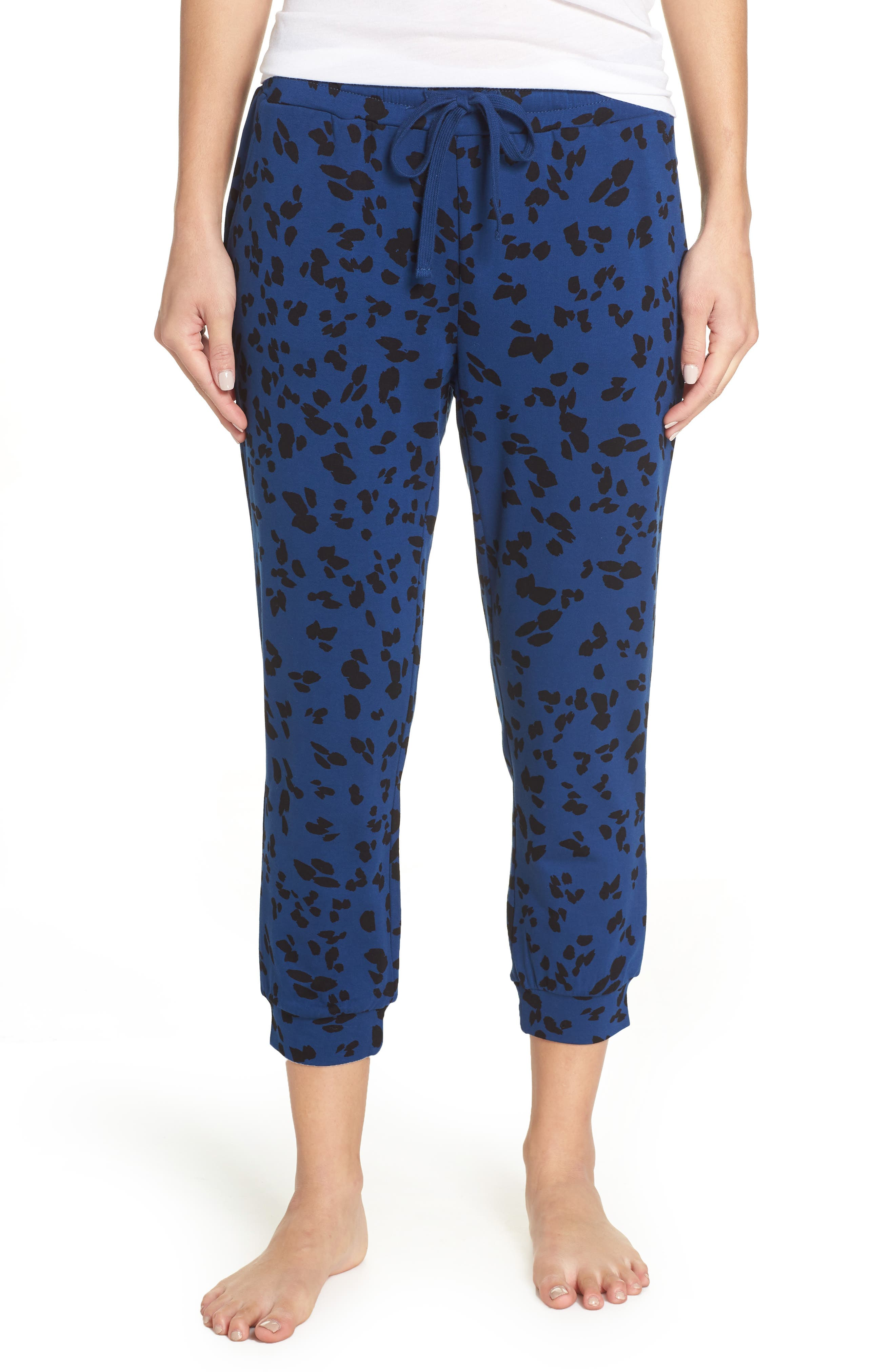 Totally Trending Leopard Print Jogger Pants,                             Main thumbnail 1, color,                             MARINE