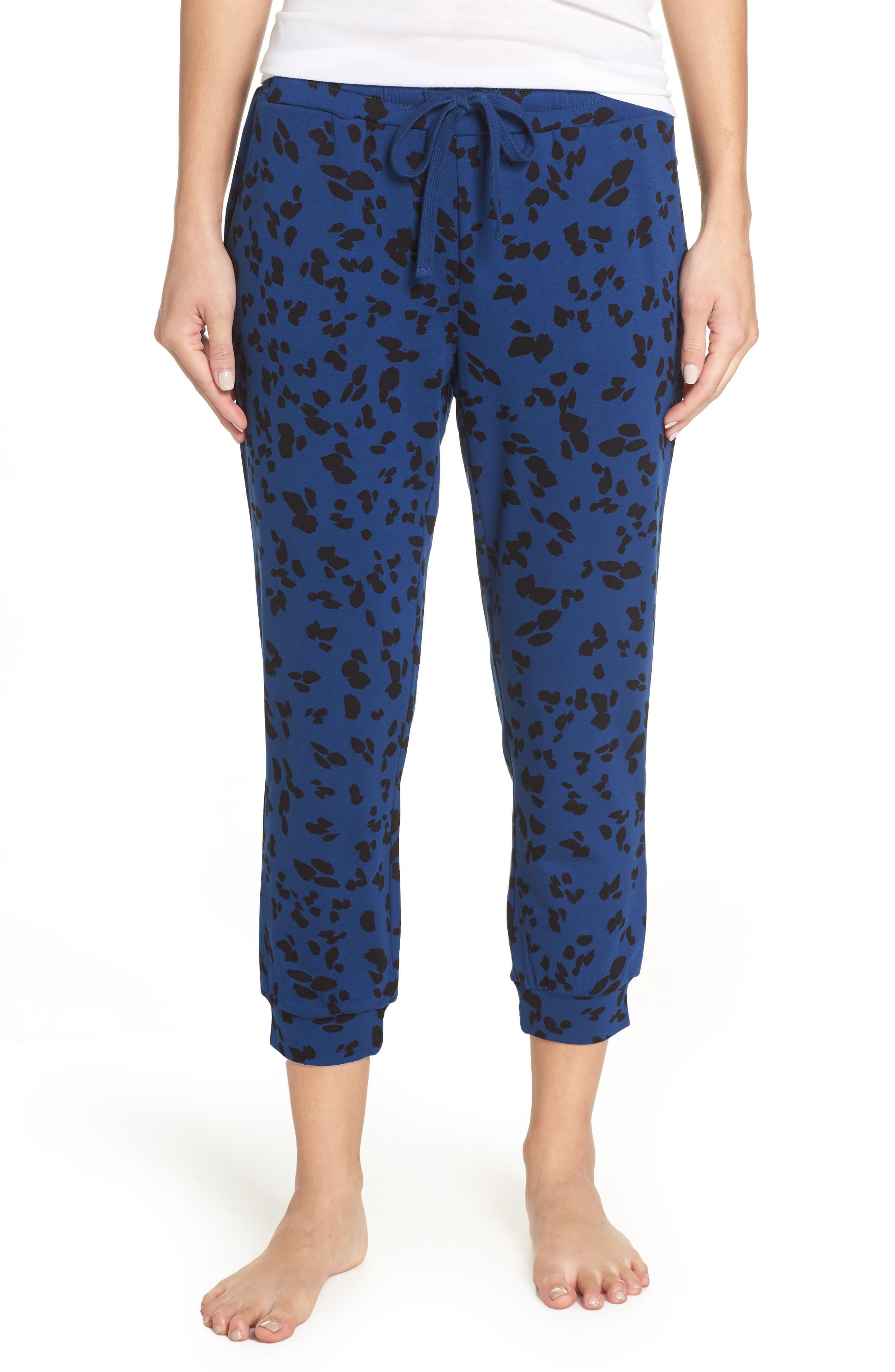 Totally Trending Leopard Print Jogger Pants,                         Main,                         color, MARINE