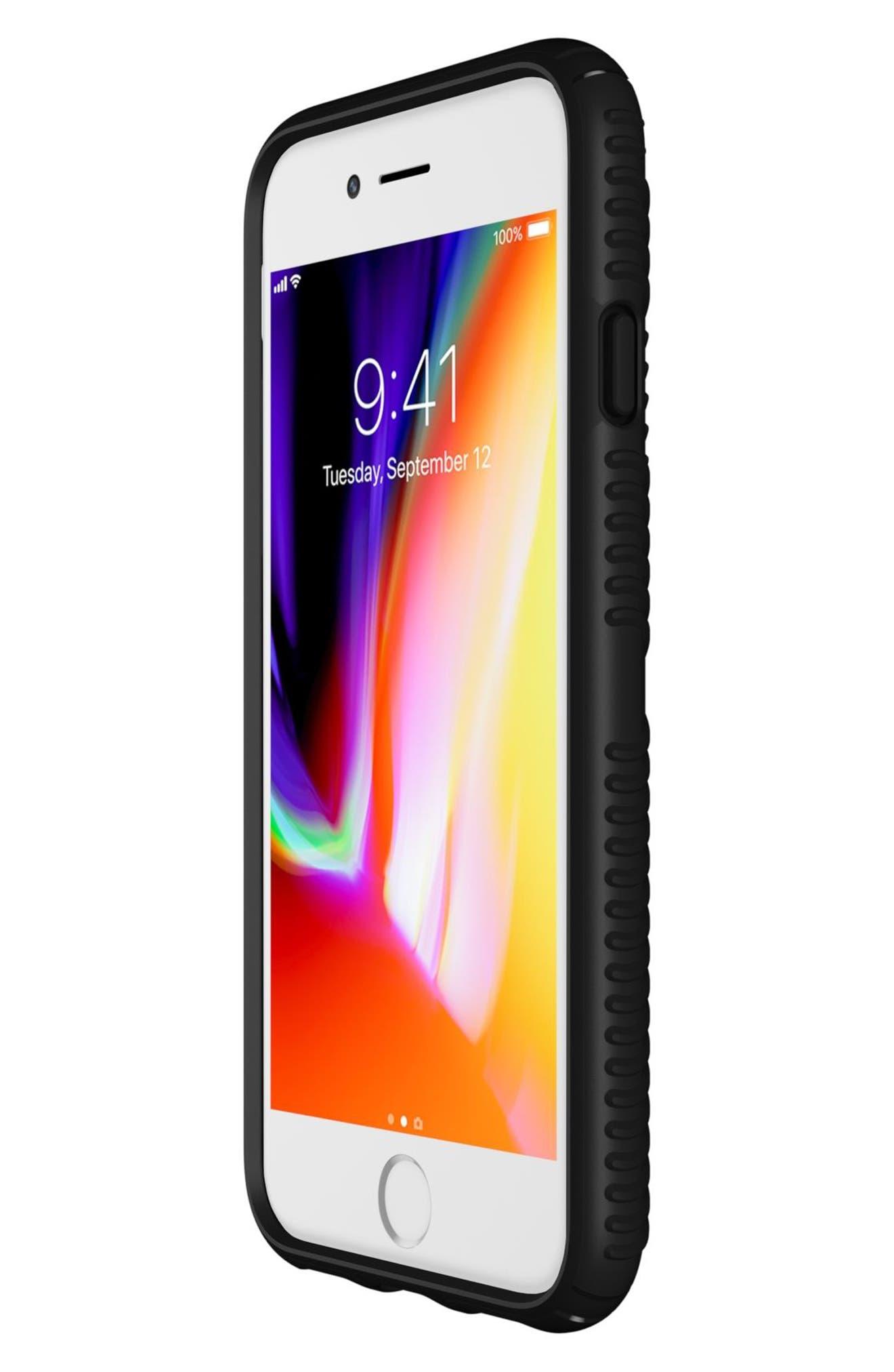 Grip iPhone 6/6s/7/8 Case,                             Alternate thumbnail 6, color,                             BLACK/ BLACK