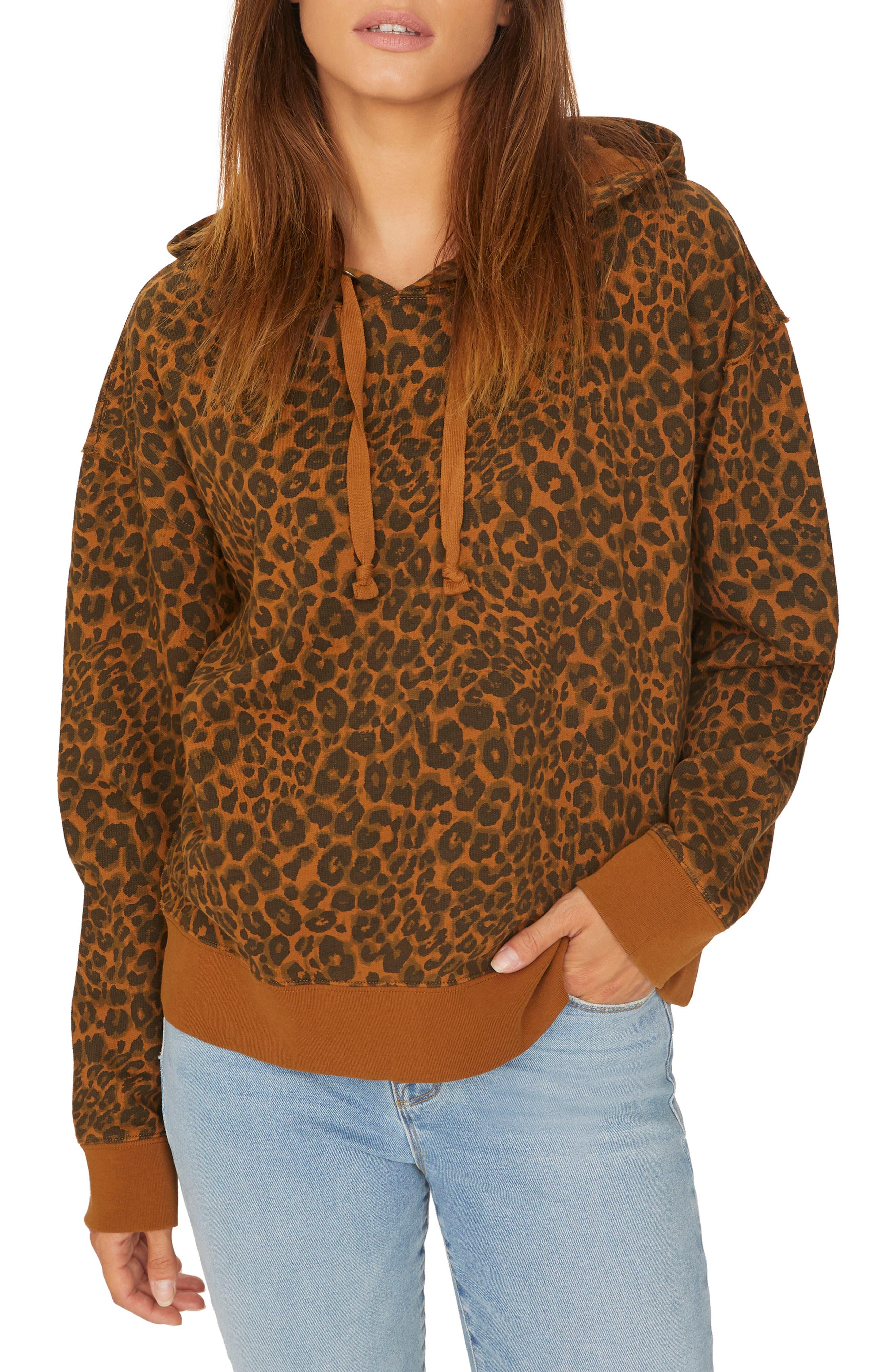 Venice Leopard Print Hoodie,                             Main thumbnail 1, color,                             200