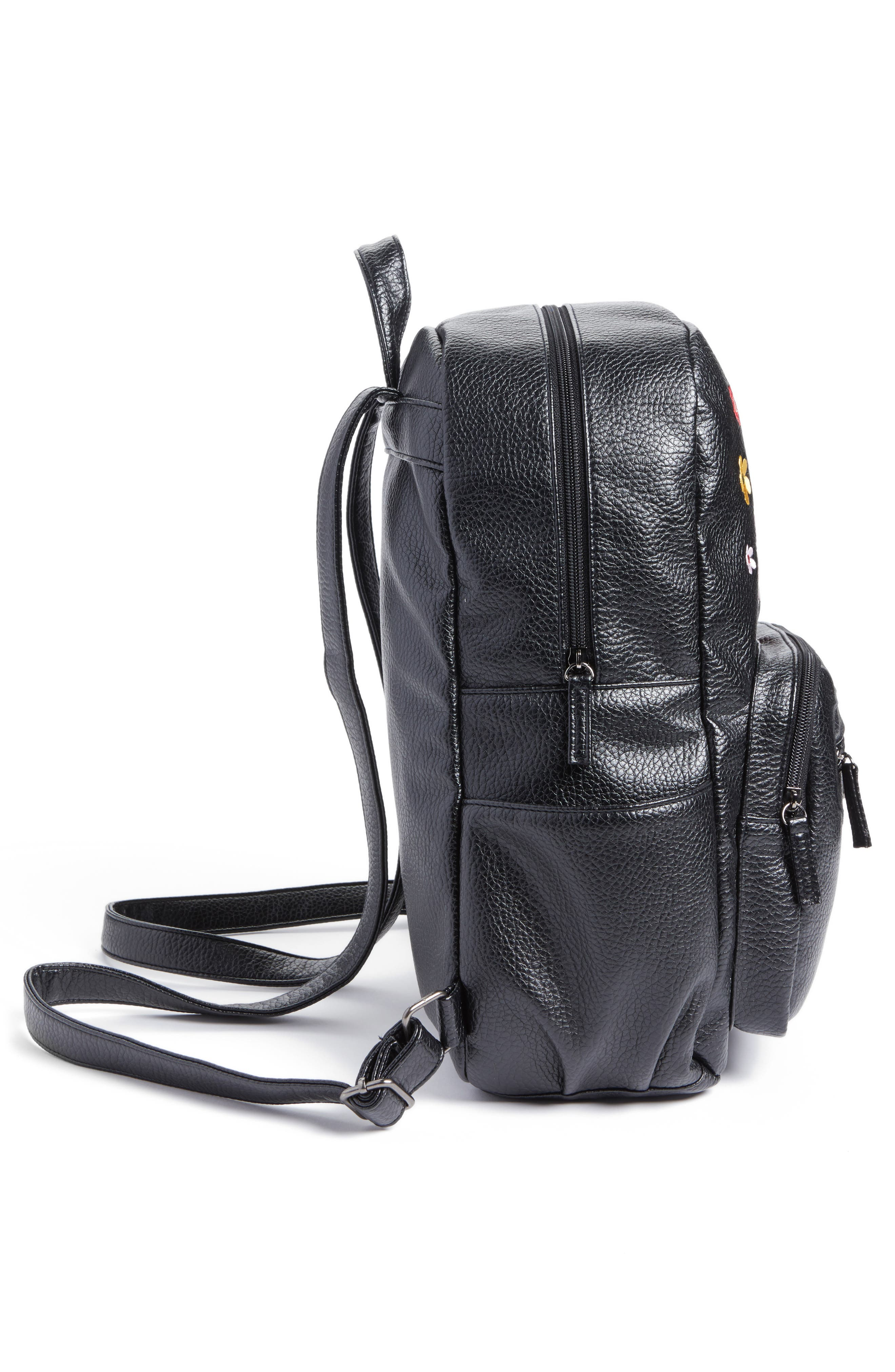 Embroidered Backpack,                             Alternate thumbnail 4, color,                             001