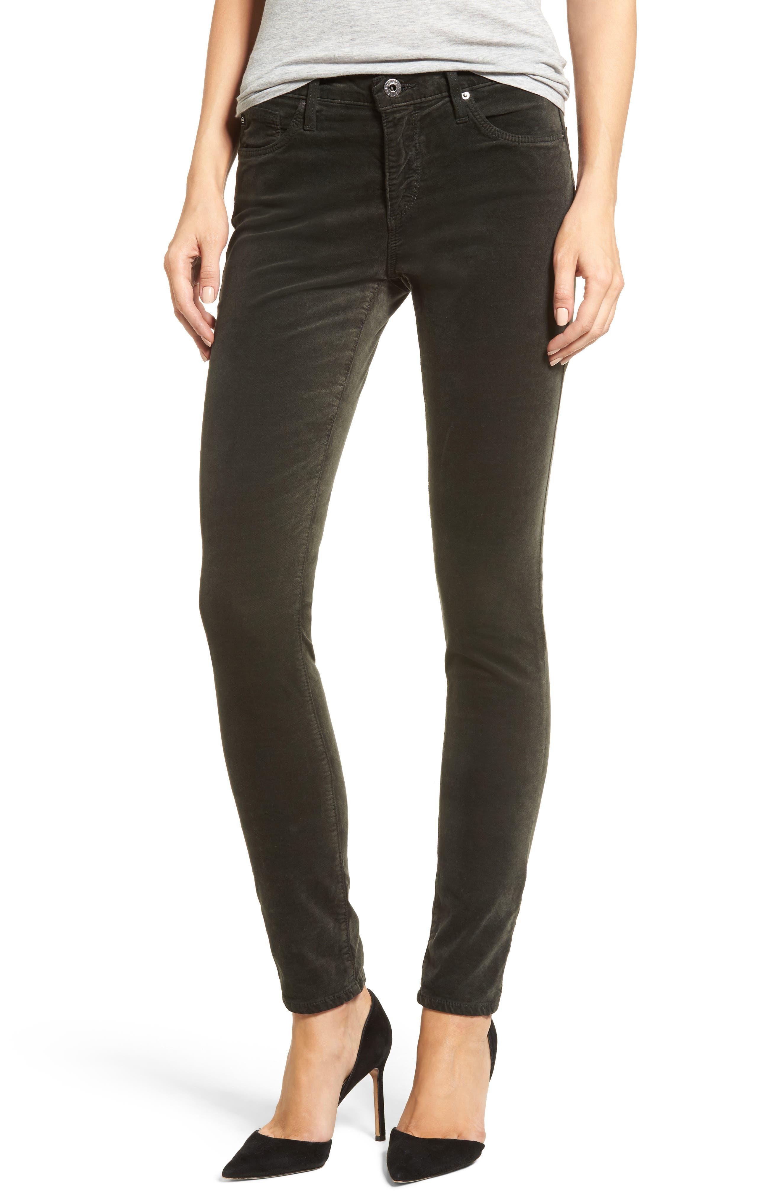 Super Skinny Velvet Leggings, Main, color, 396
