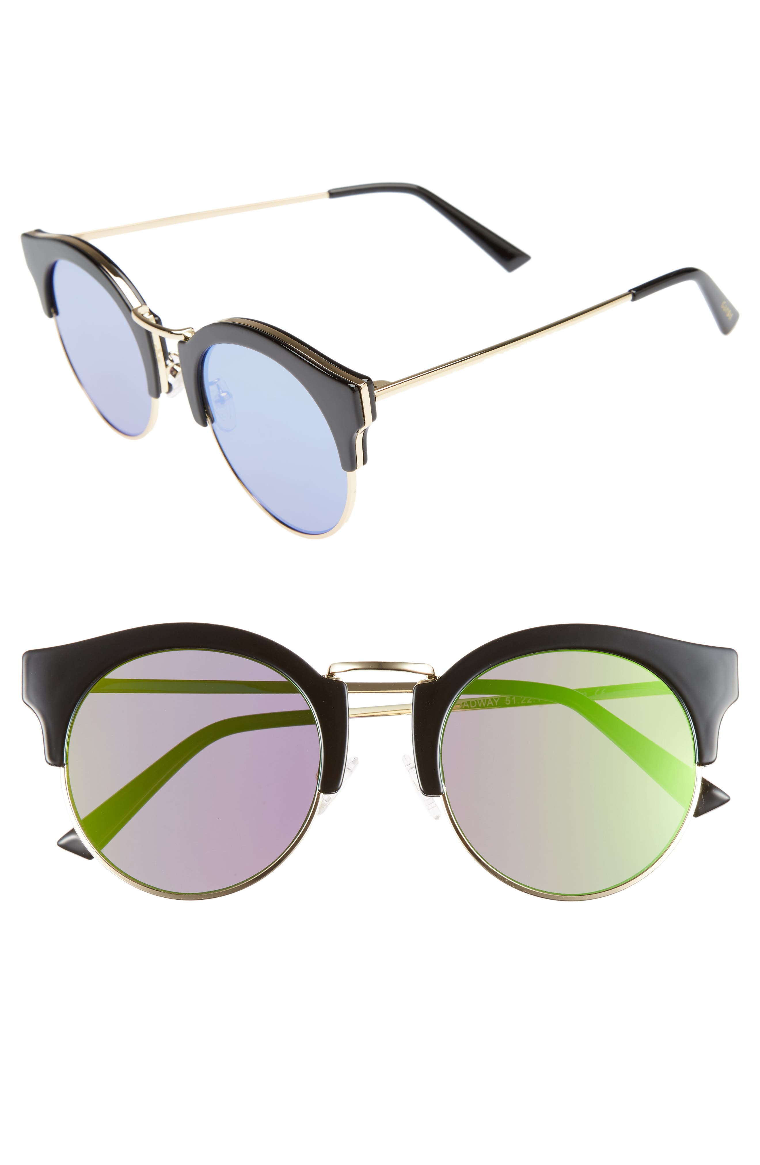 Broadway 51mm Retro Sunglasses,                             Main thumbnail 1, color,