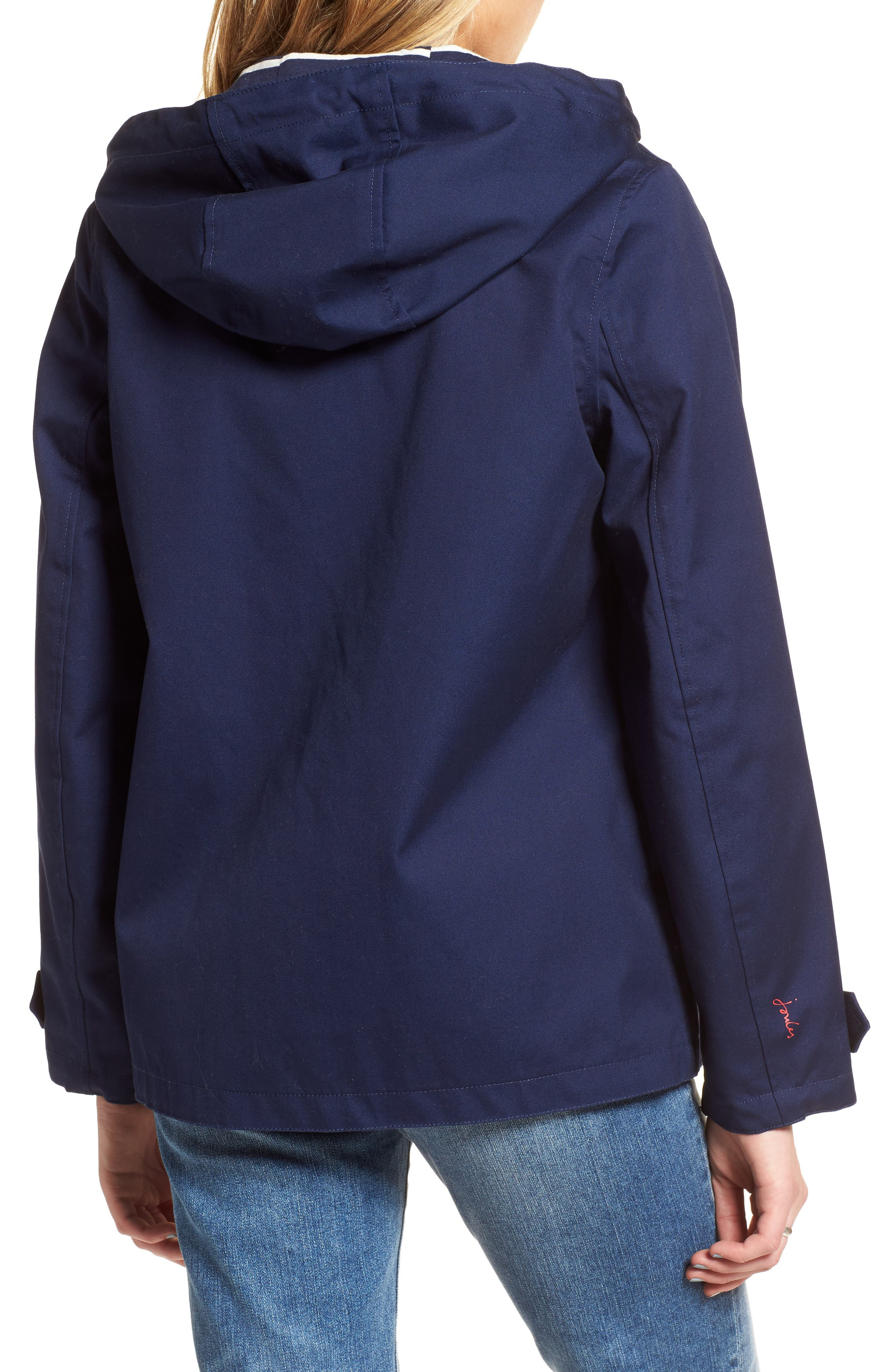 Right as Rain Waterproof Hooded Jacket,                             Alternate thumbnail 2, color,                             FRENCH NAVY