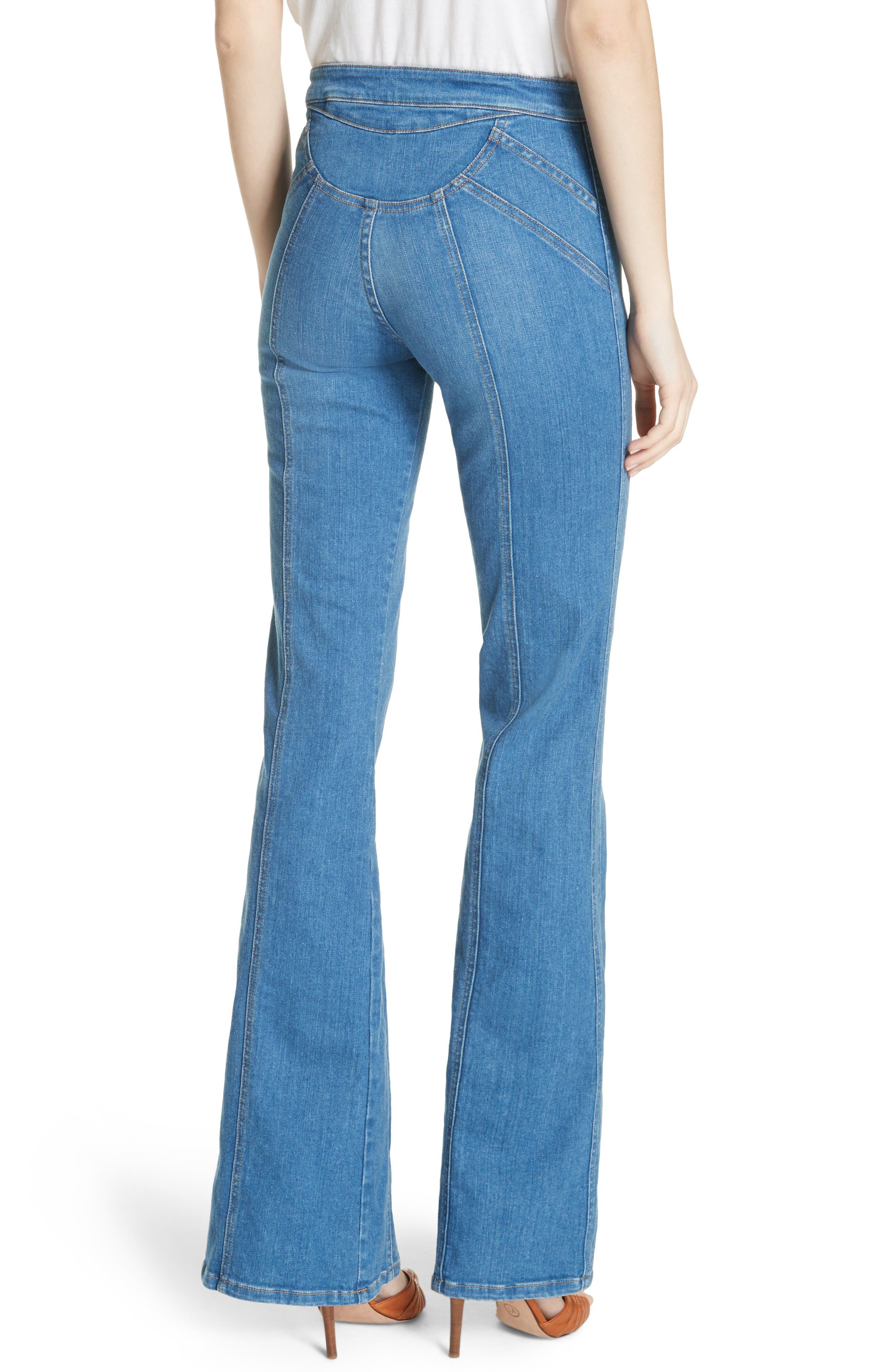 Farrah Wide Leg Jeans,                             Alternate thumbnail 2, color,                             400