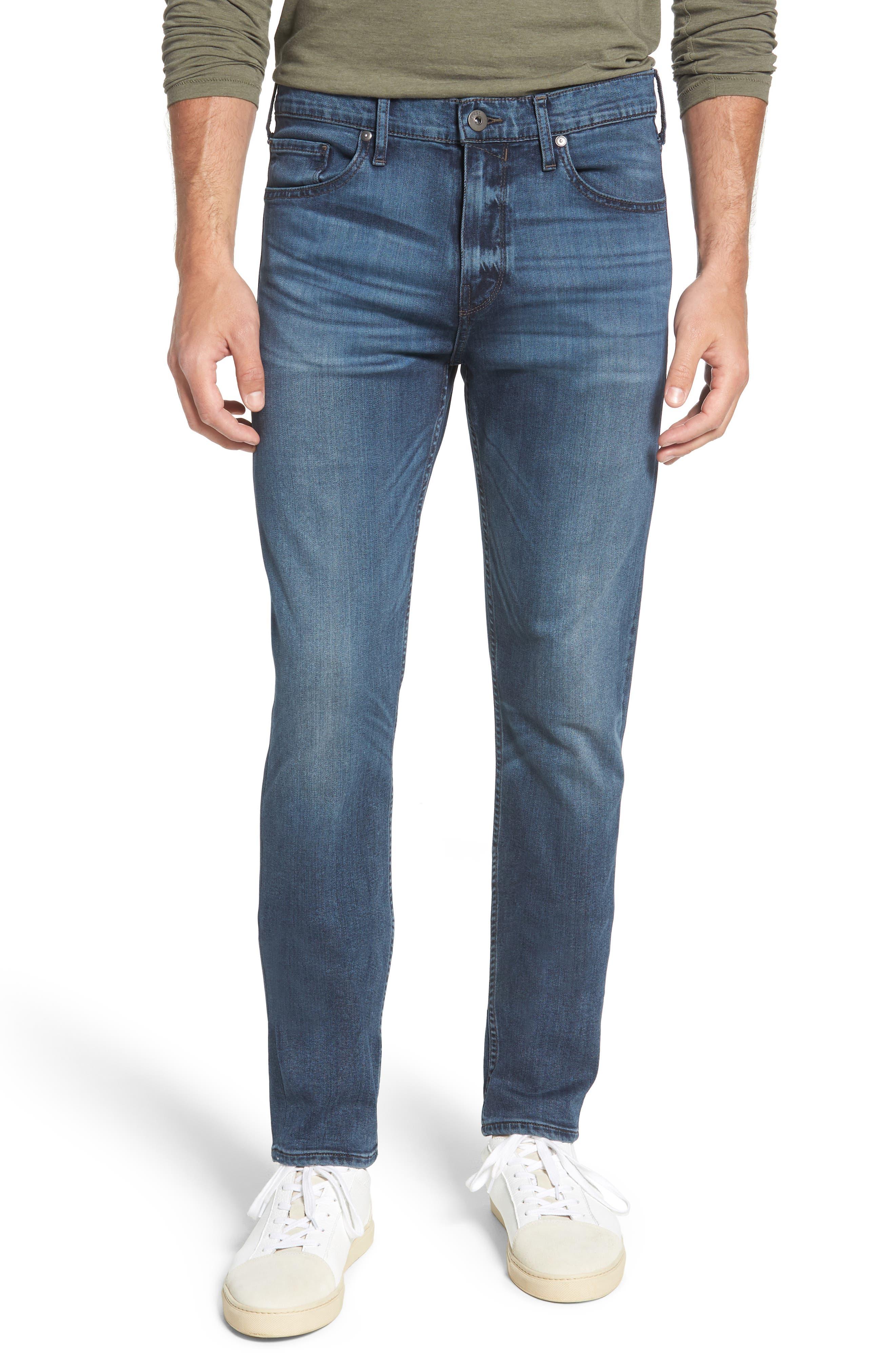 Transcend - Lennox Slim Fit Jeans,                             Main thumbnail 1, color,                             GRAMMERCY