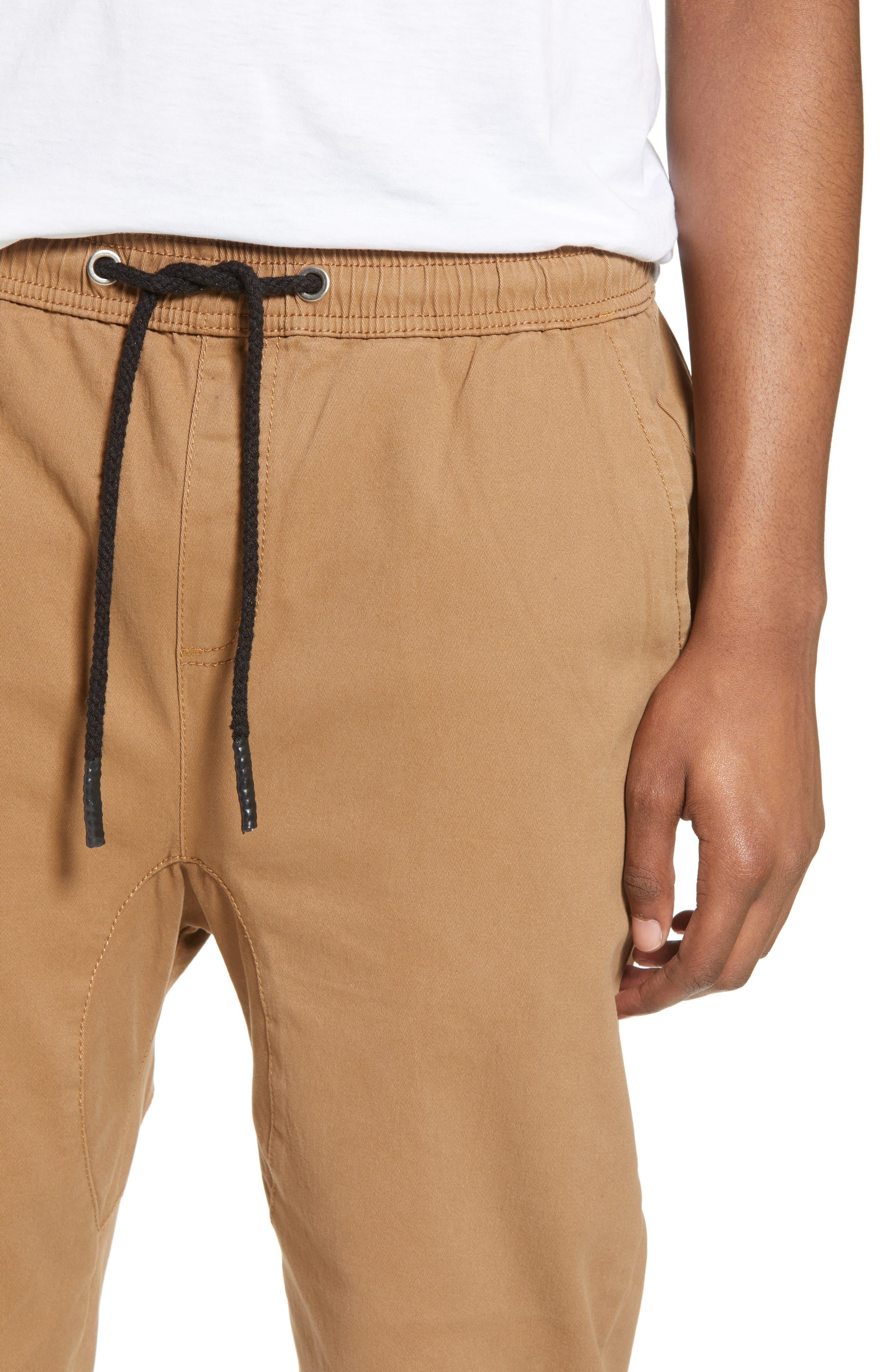 Vacation Slim Fit Crop Pants,                             Alternate thumbnail 4, color,                             KHAKI