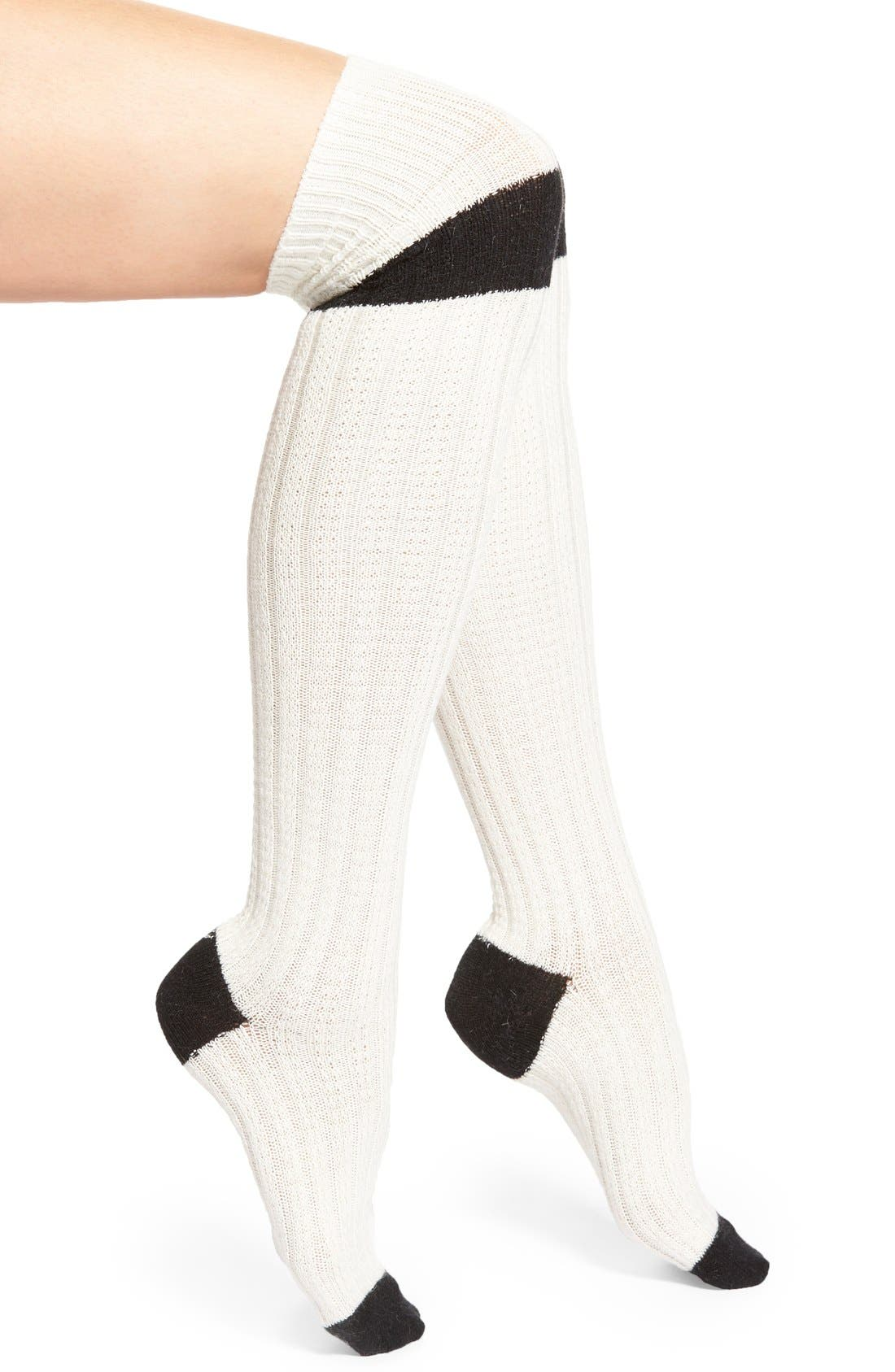 STANCE 'Gemini' Over the Knee Socks, Main, color, 270