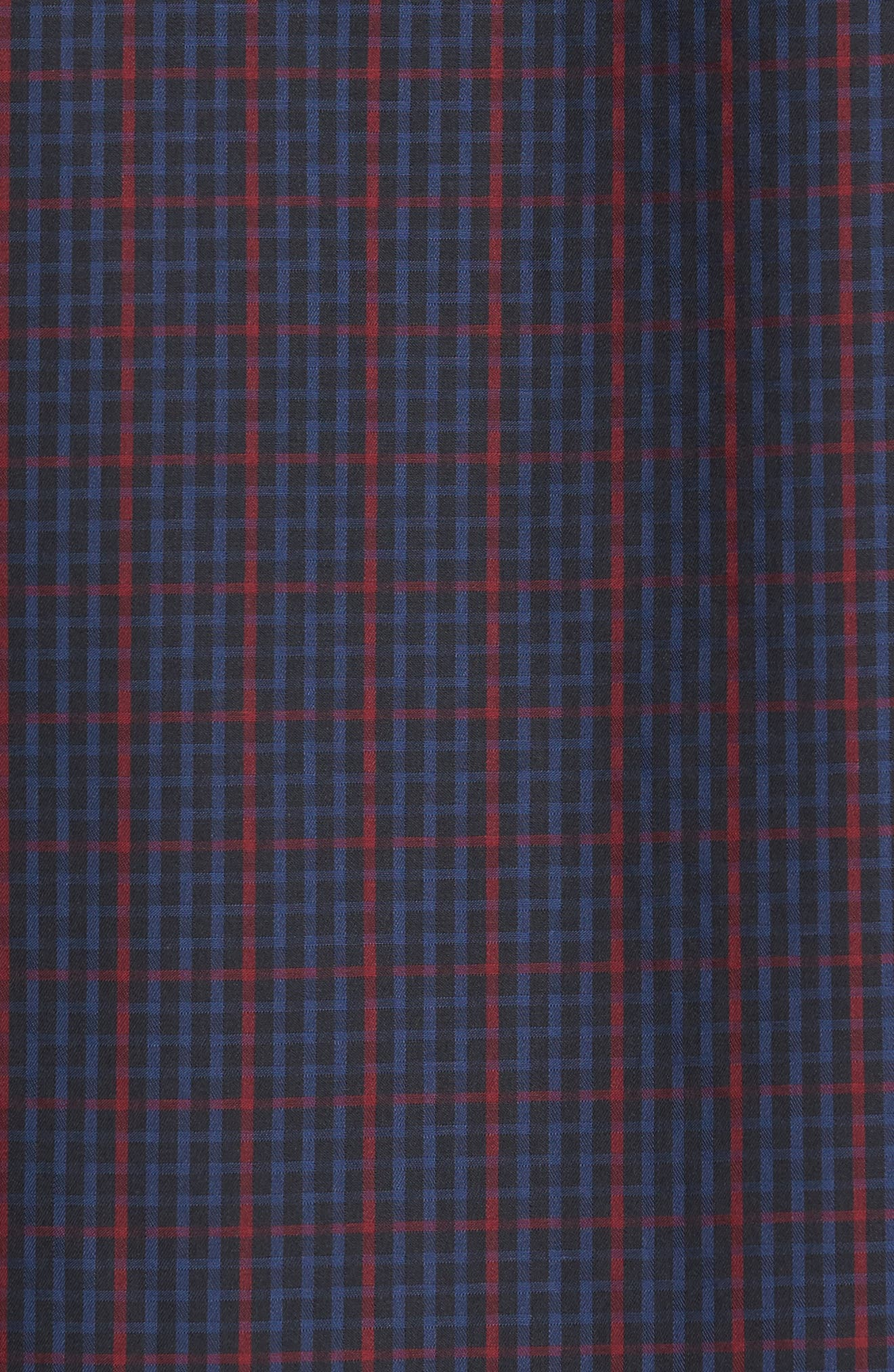 Classic Fit Windowpane Check Sport Shirt,                             Alternate thumbnail 5, color,                             410