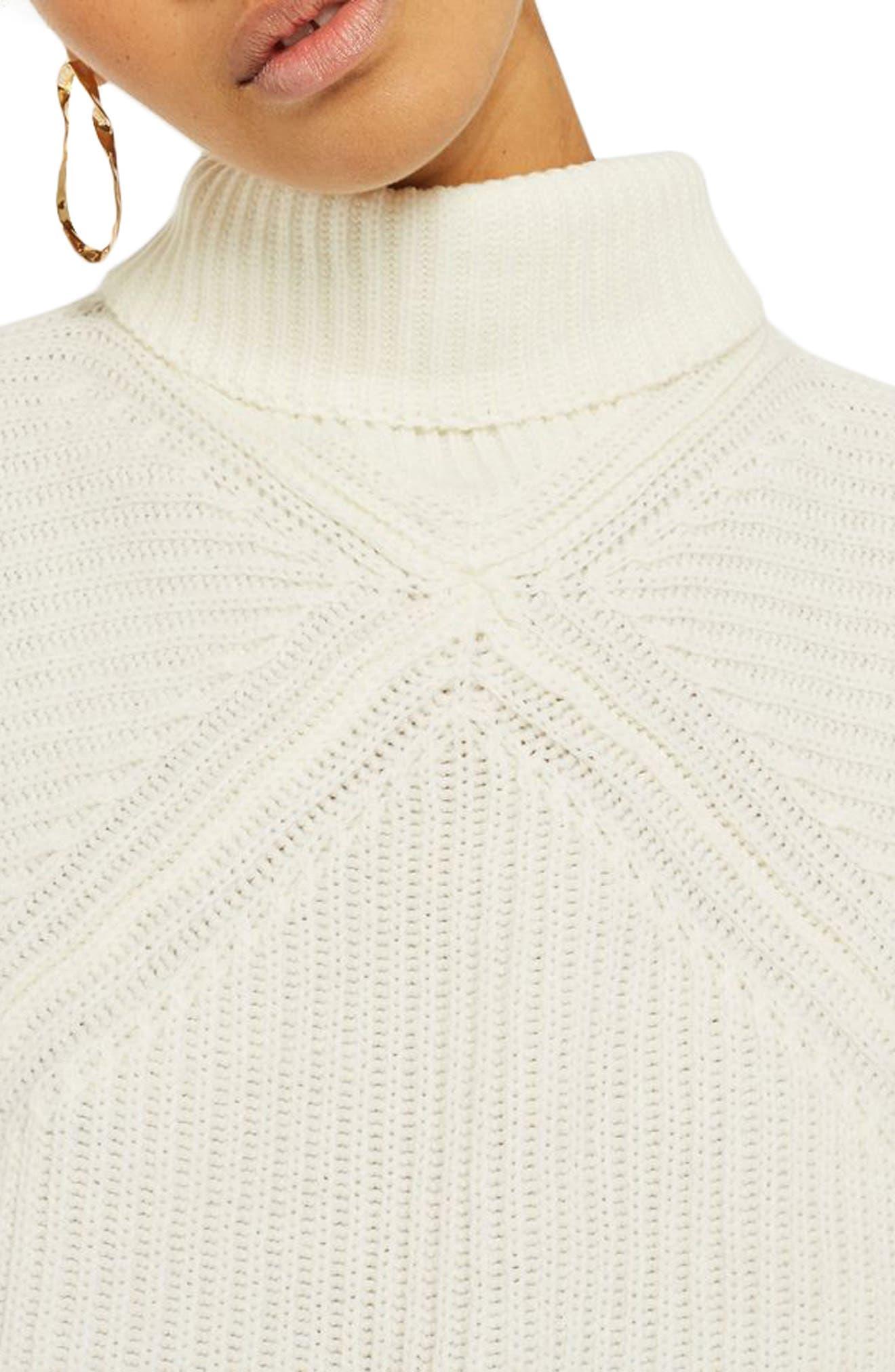 Diamond Stitch Turtleneck Sweater,                             Alternate thumbnail 3, color,                             900