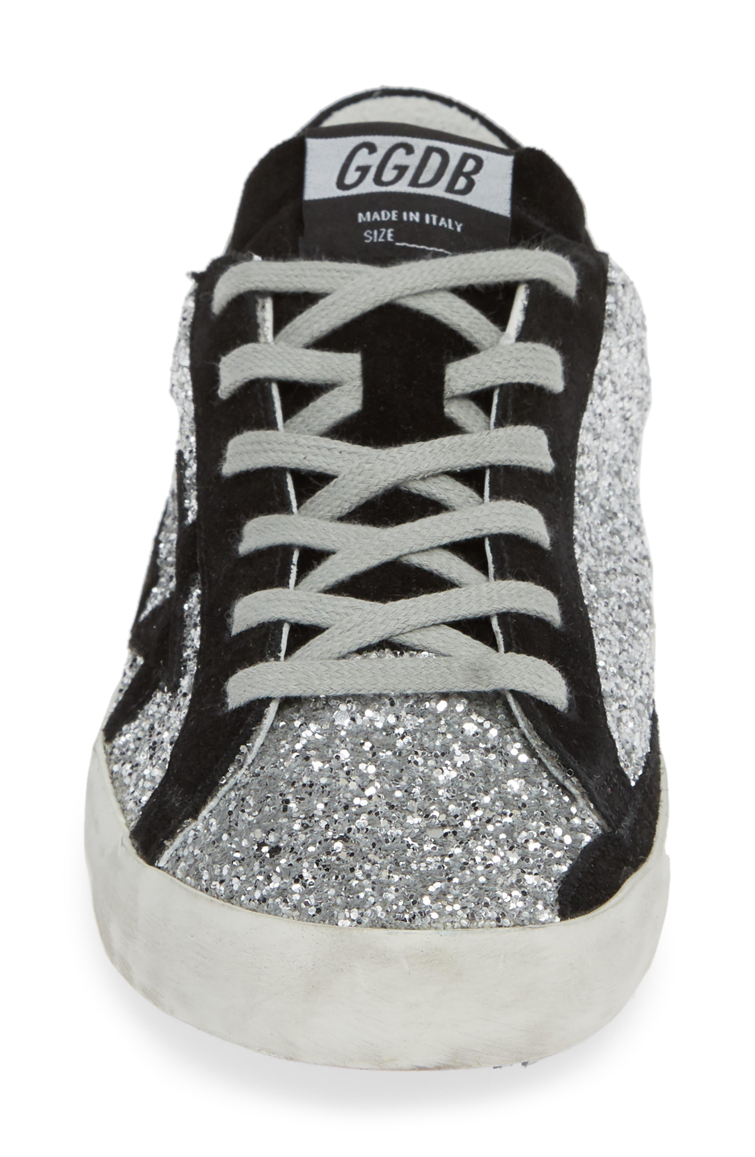 Superstar Glitter Sneaker,                             Alternate thumbnail 4, color,                             040