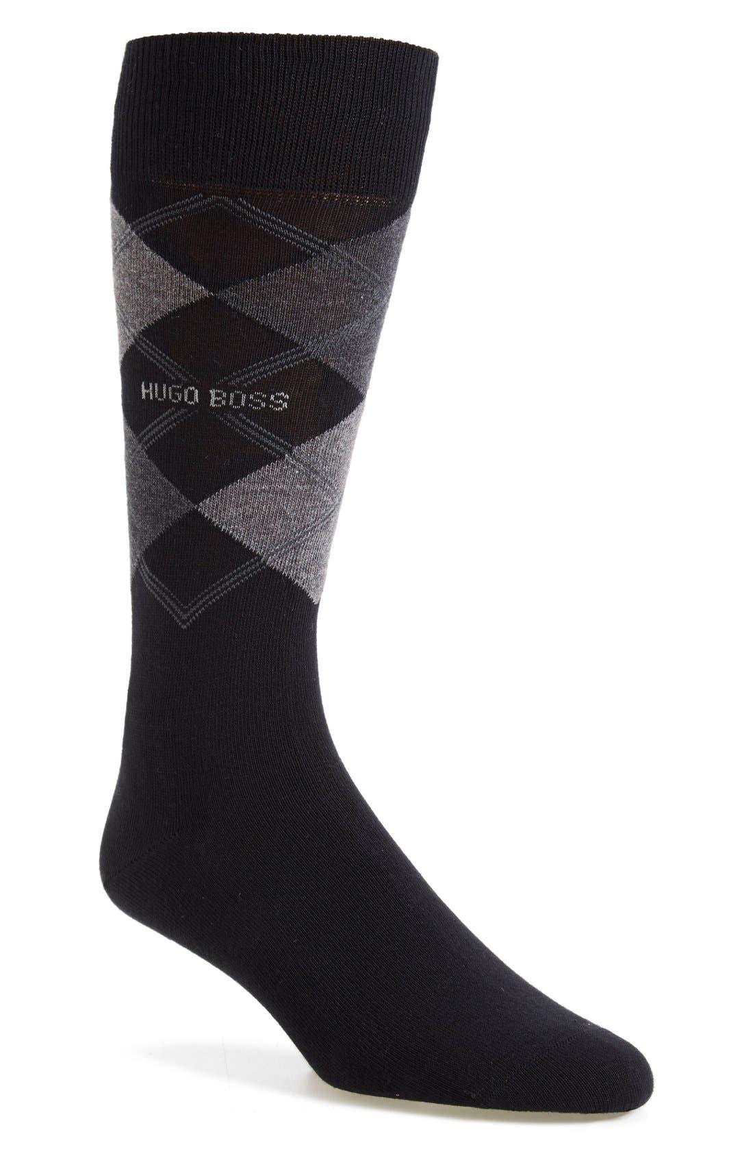 'James' Argyle Socks,                         Main,                         color, 001