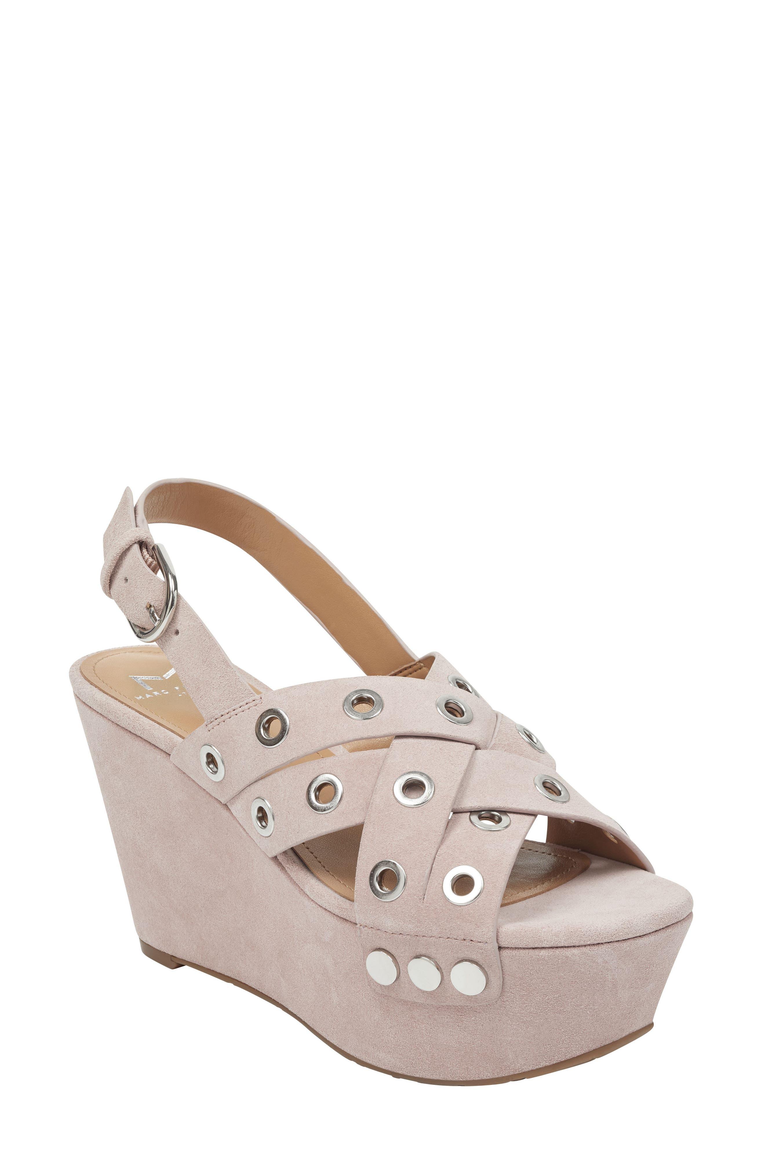 Marc Fisher Ltd Bloom Platform Sandal, Pink