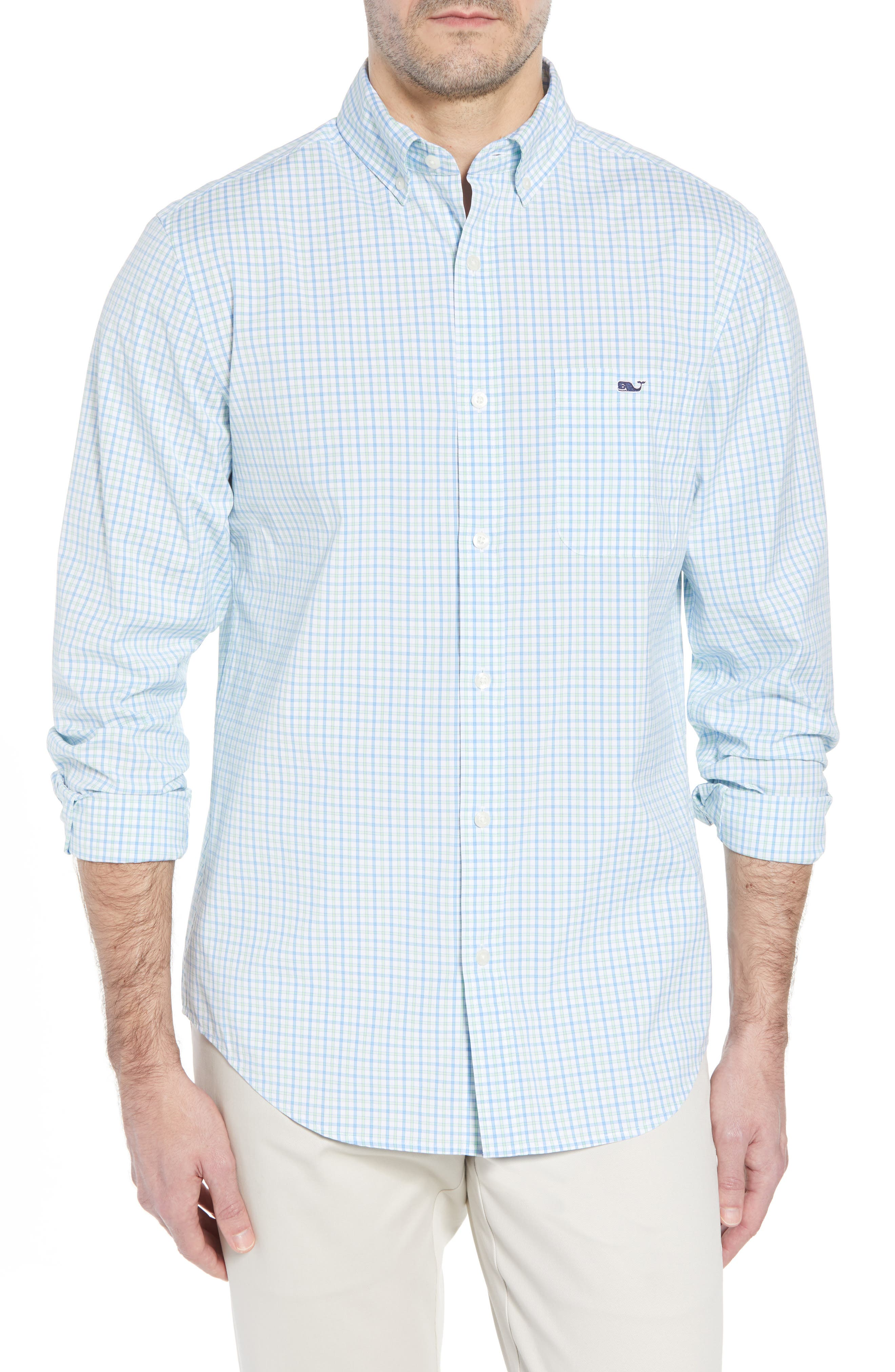 Clark Cove Tucker Classic Fit Check Sport Shirt,                         Main,                         color, 305