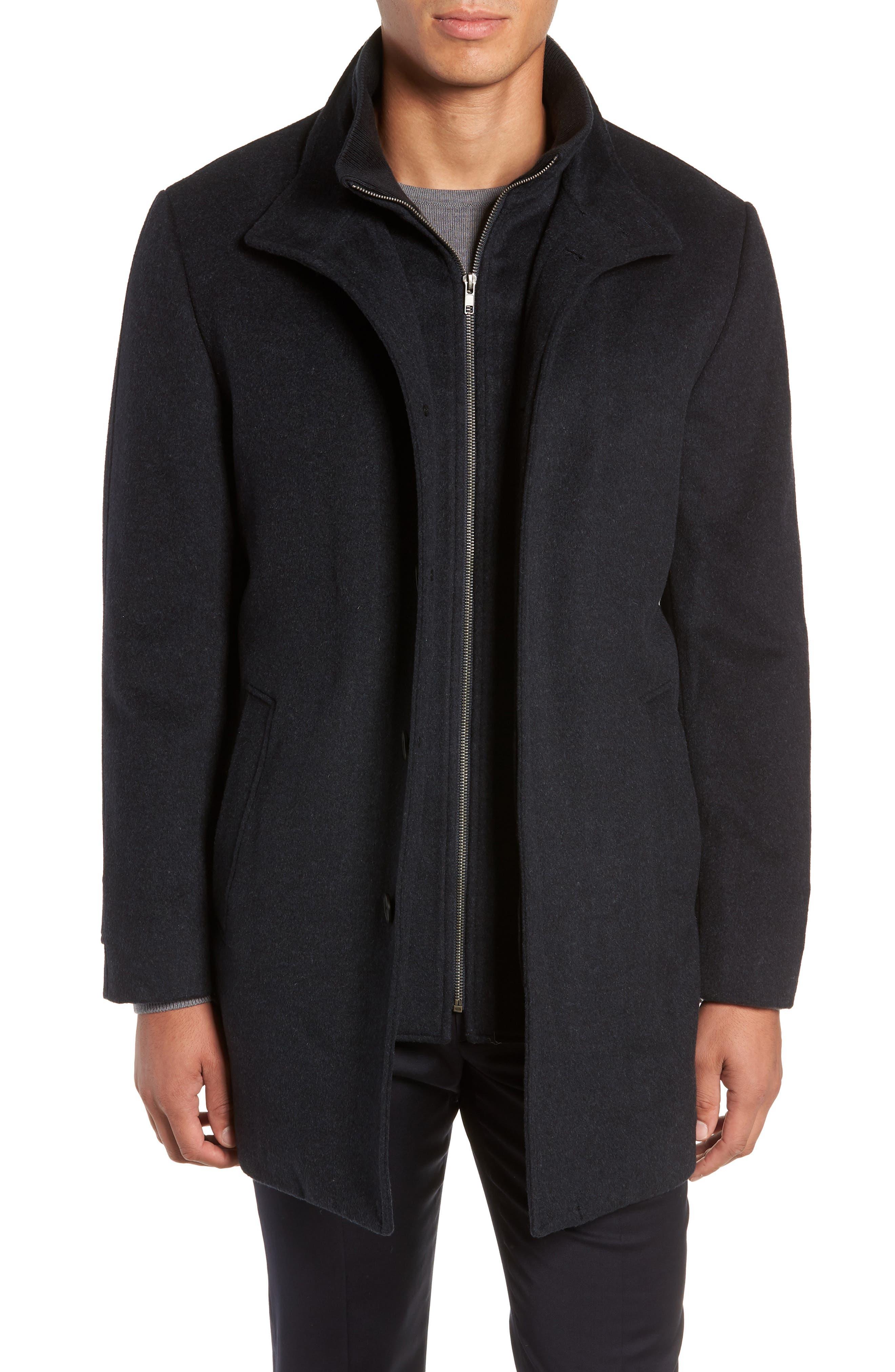 Hudson Wool Car Coat,                             Main thumbnail 1, color,                             NAVY MELANGE