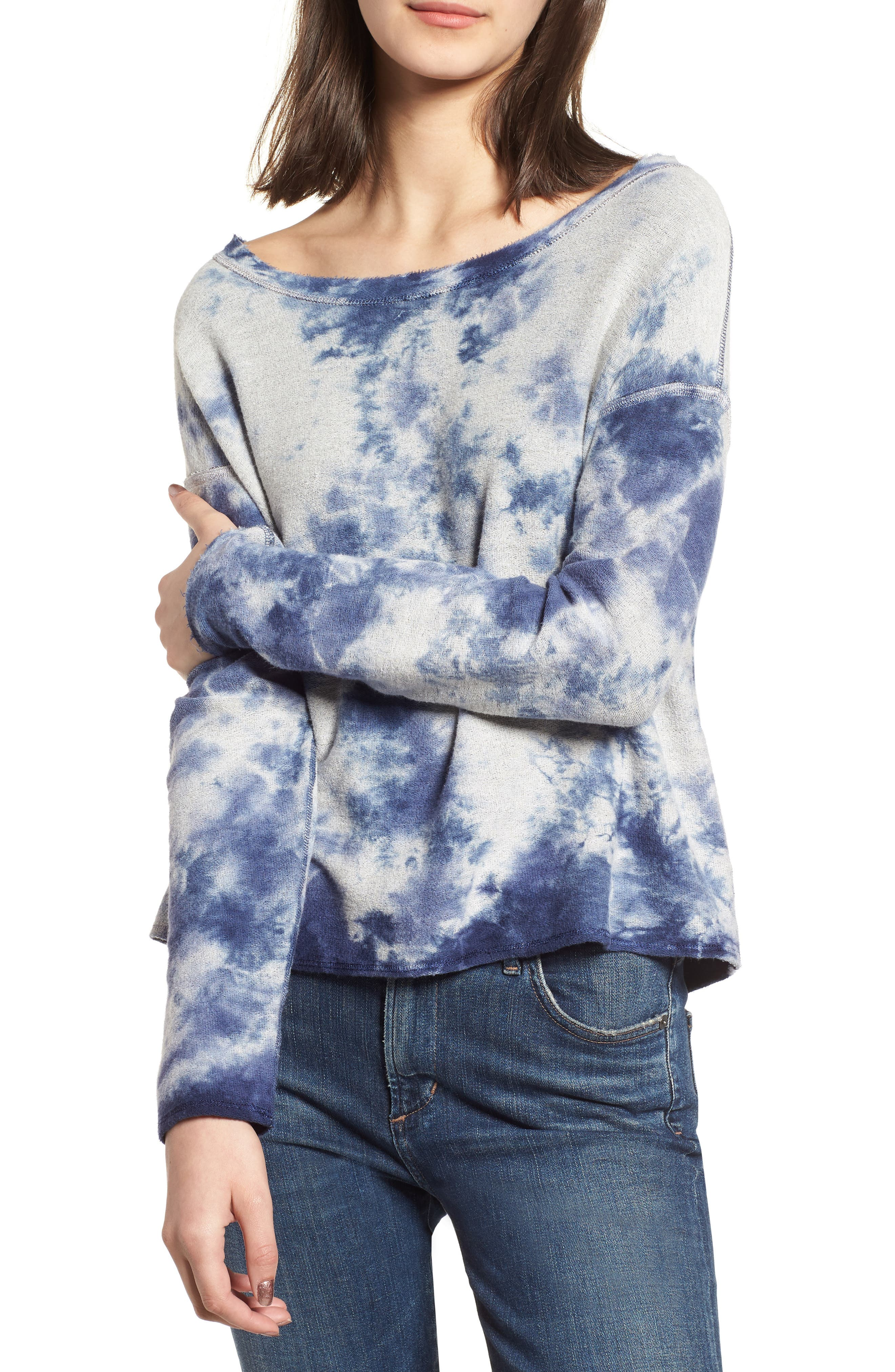 Tie Dye Pullover,                             Main thumbnail 1, color,