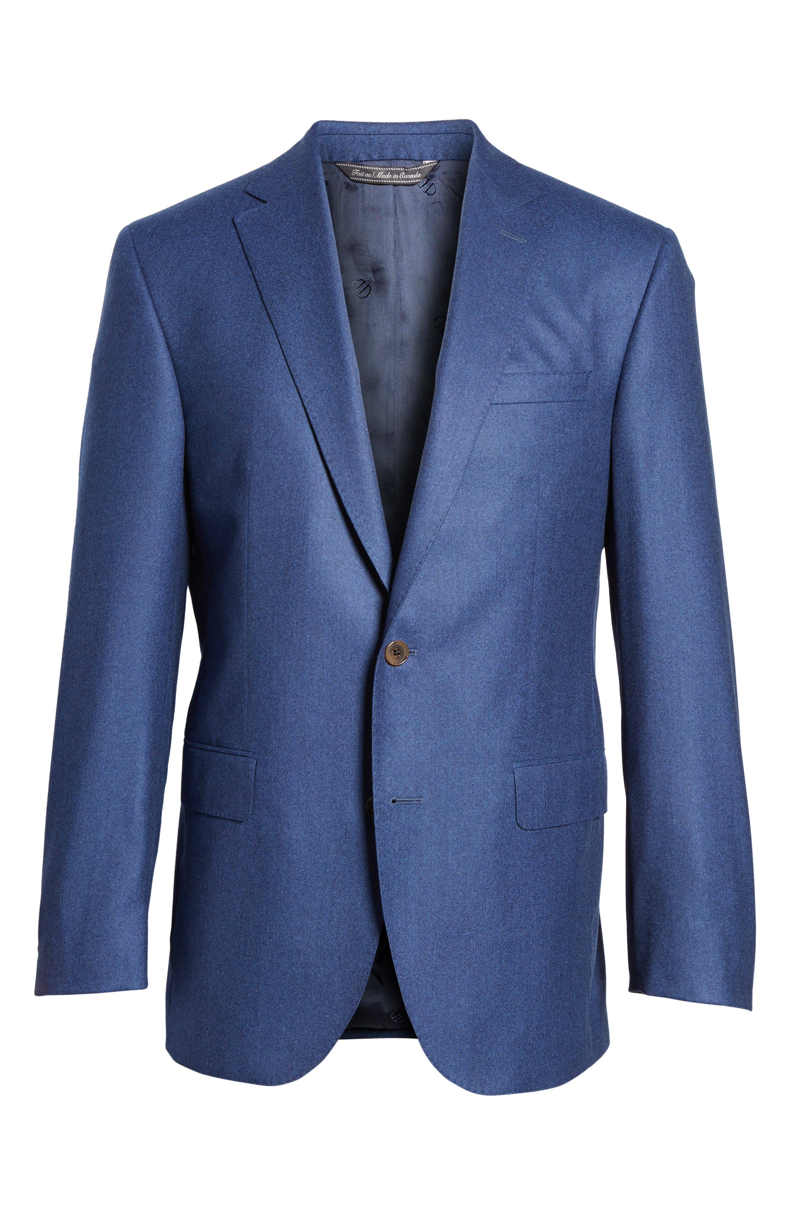 Ryan Classic Fit Solid Wool Suit,                             Alternate thumbnail 8, color,                             400