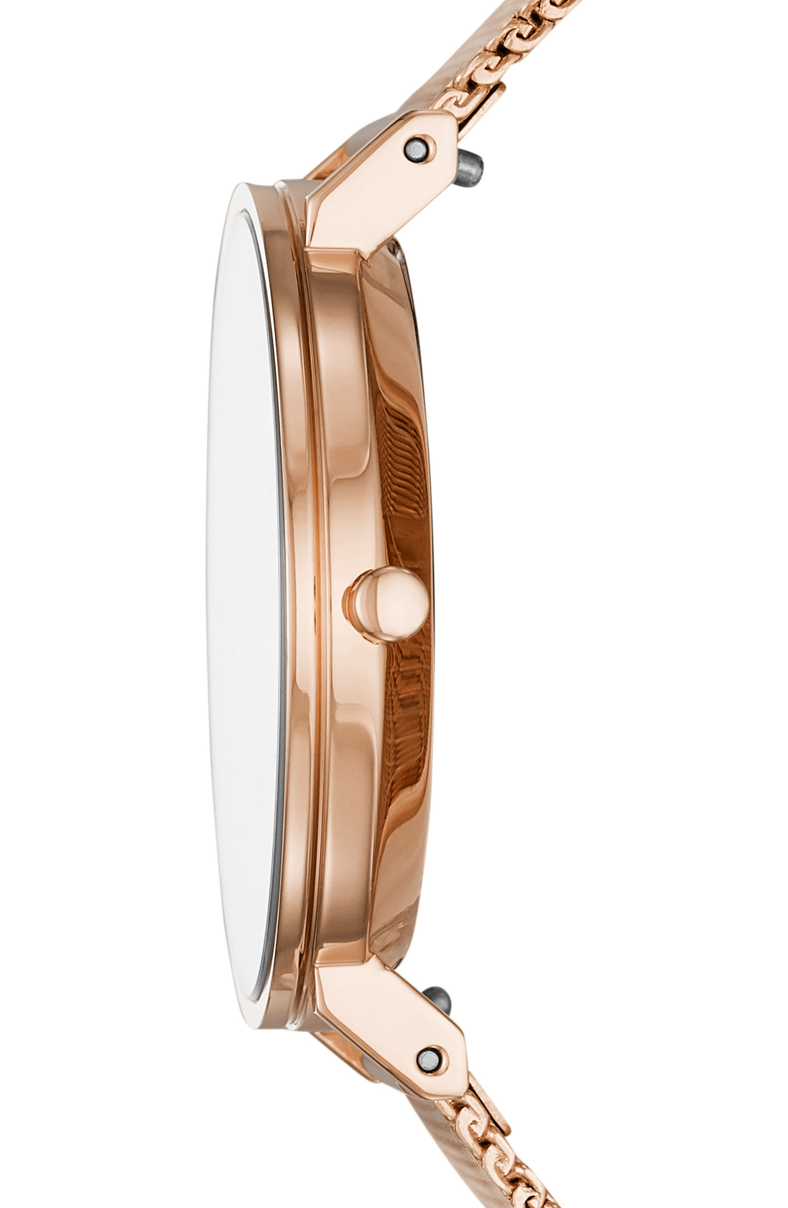 Hald Bracelet Watch, 34mm,                             Alternate thumbnail 2, color,                             ROSE GOLD/ SILVER/ ROSE GOLD