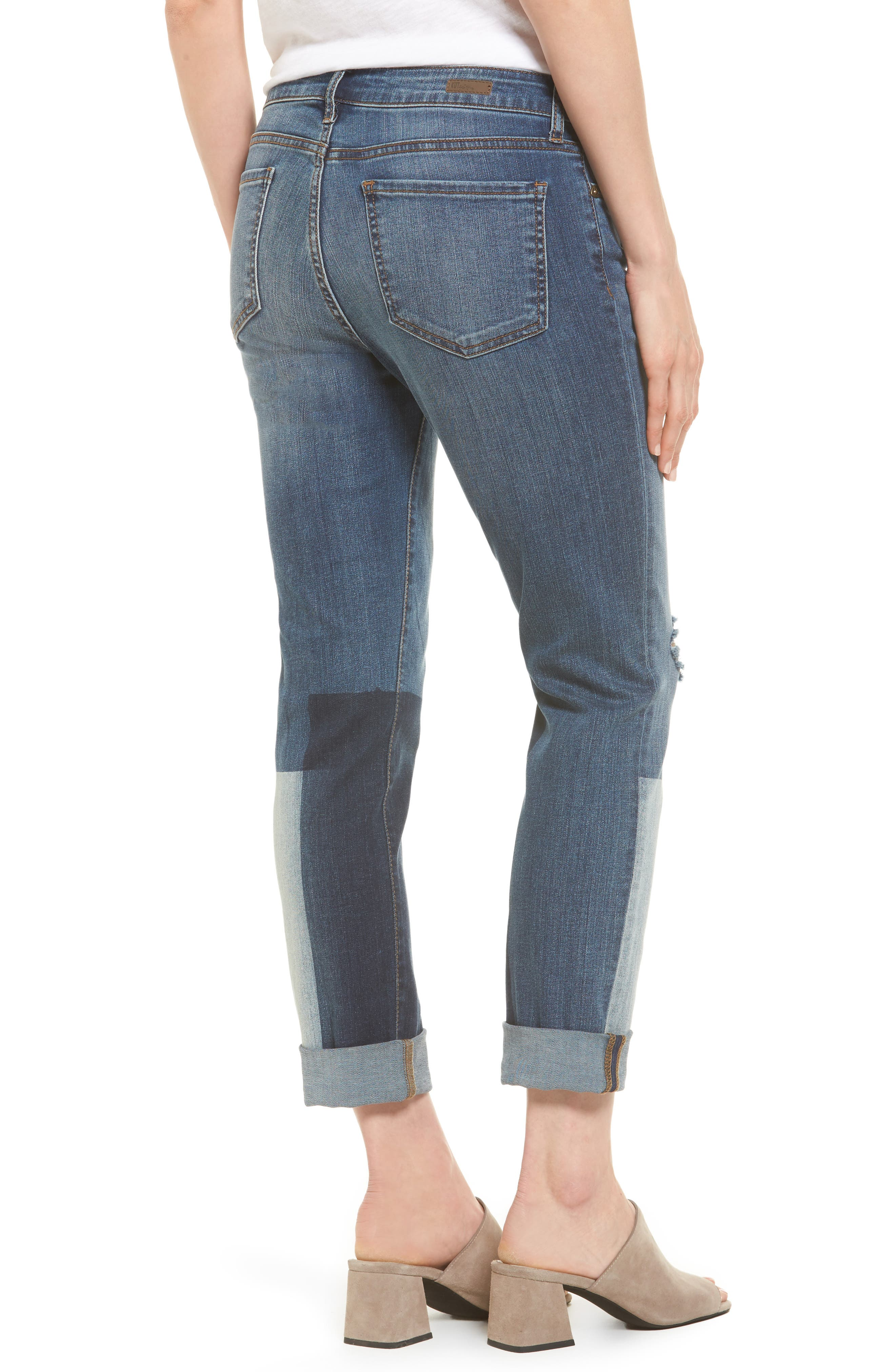 Catherine Colorblock Slim Boyfriend Jeans,                             Alternate thumbnail 2, color,