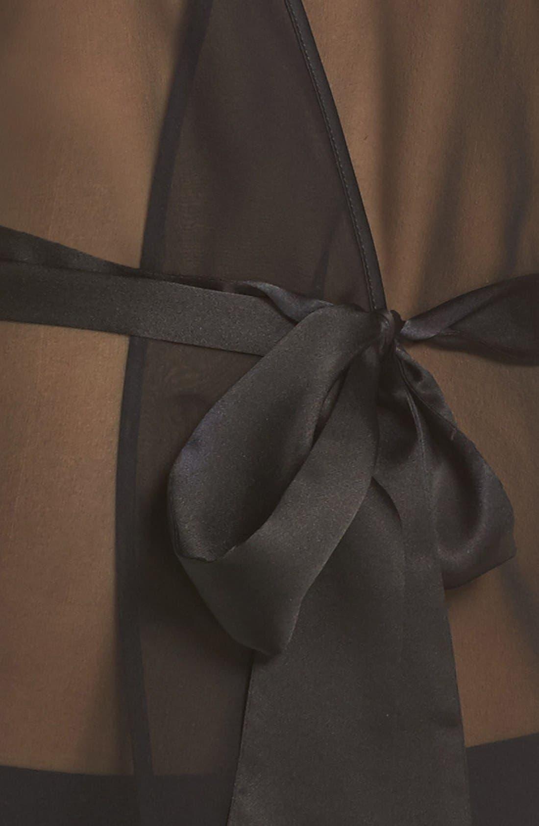 Silk Chiffon Robe,                             Alternate thumbnail 3, color,                             001
