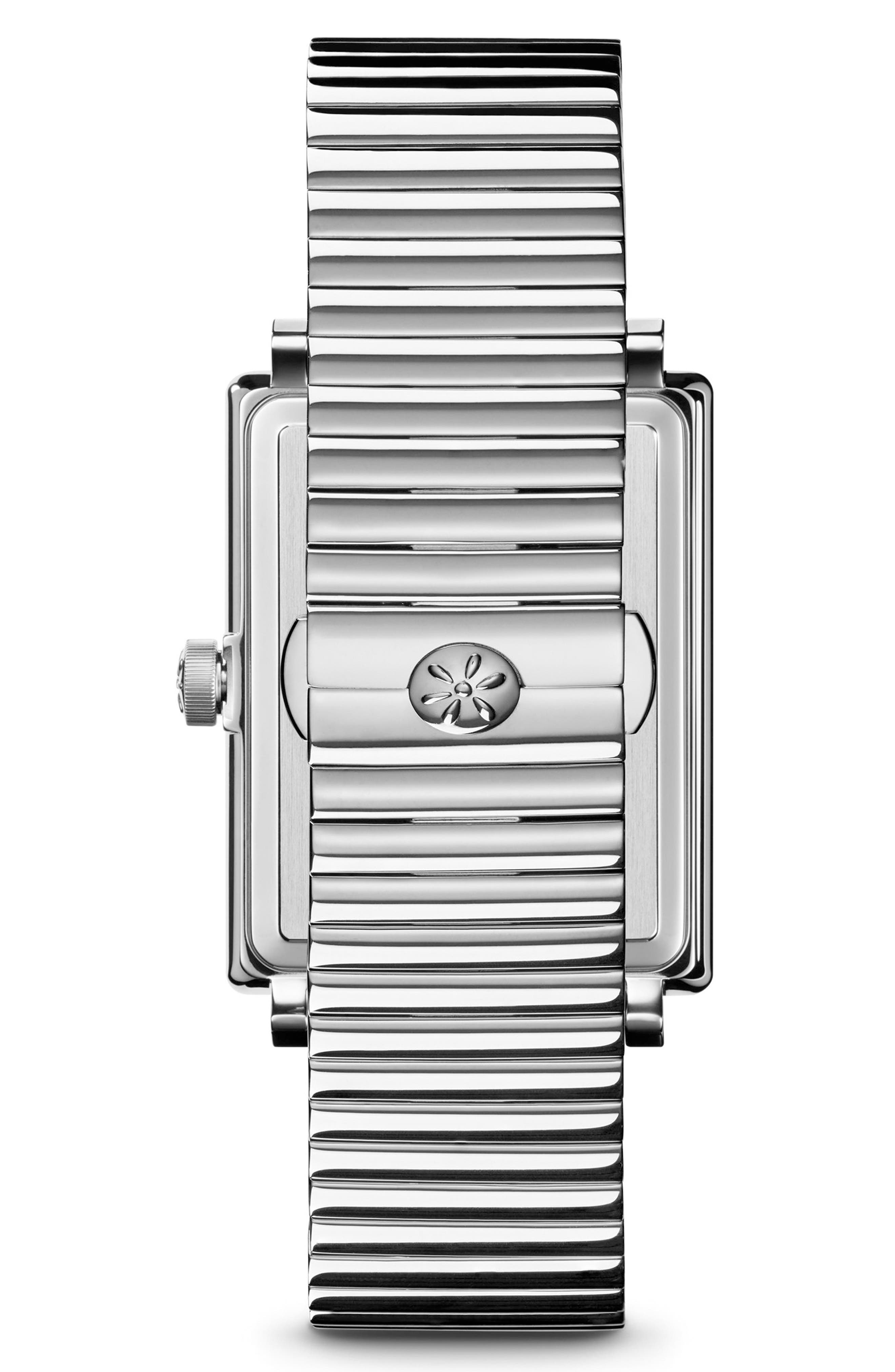 The Shirley Fromer Bracelet Watch, 32mm x 25mm,                             Alternate thumbnail 2, color,                             SILVER/ BRASS