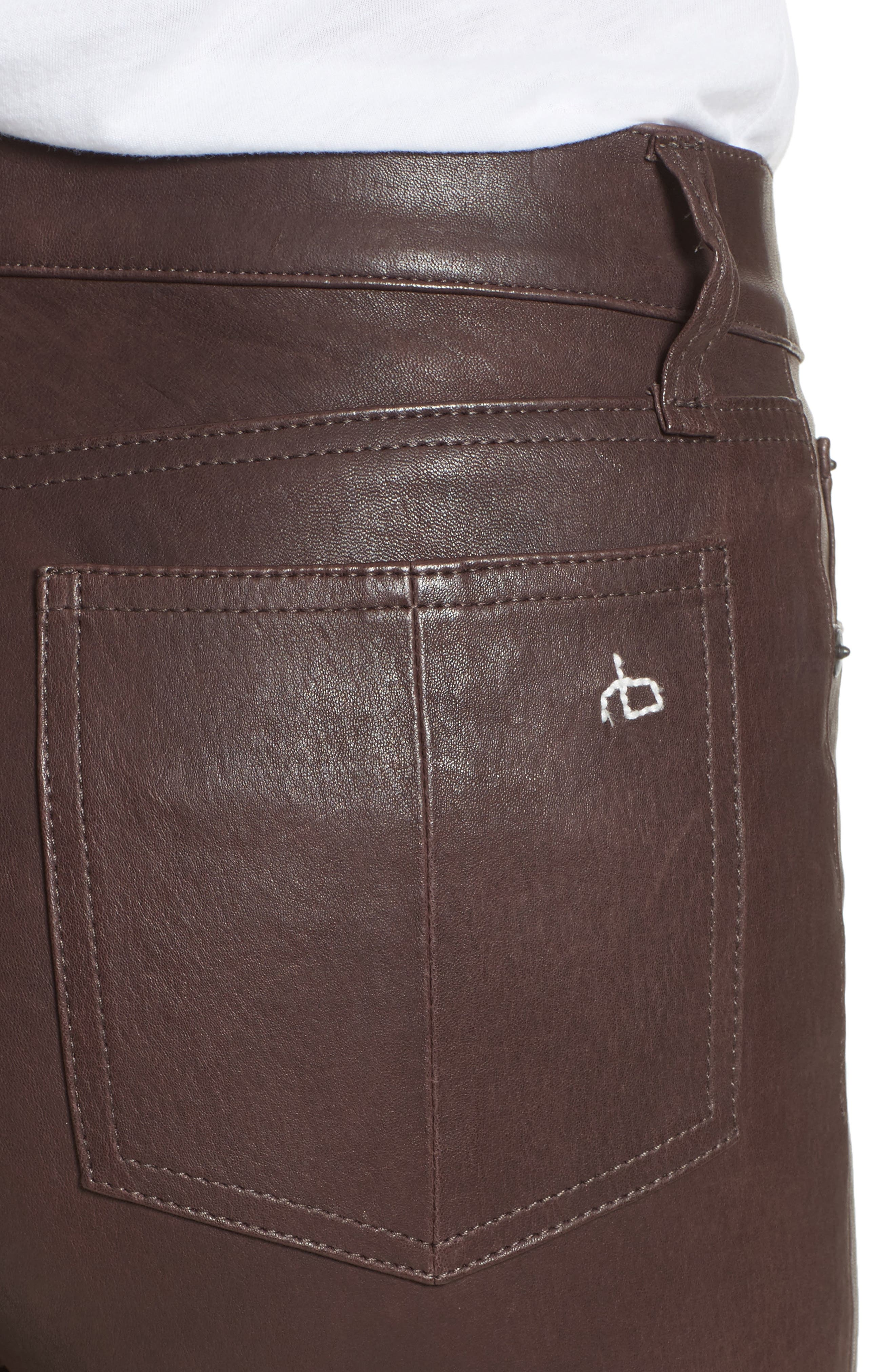 Lambskin Leather Pants,                             Alternate thumbnail 15, color,
