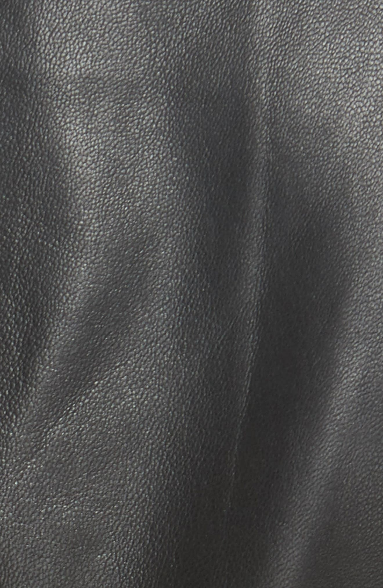 Lightweight Leather Bolero,                             Alternate thumbnail 6, color,                             001