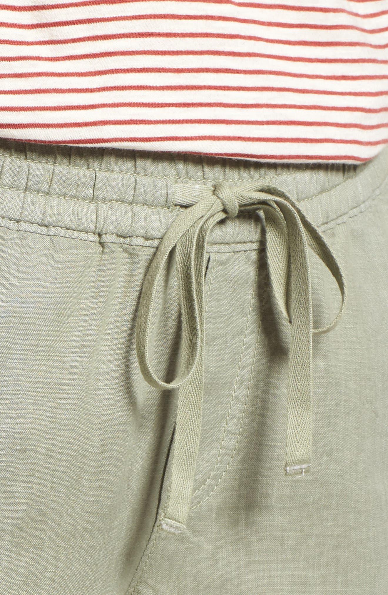 Linen Crop Pants,                             Alternate thumbnail 26, color,