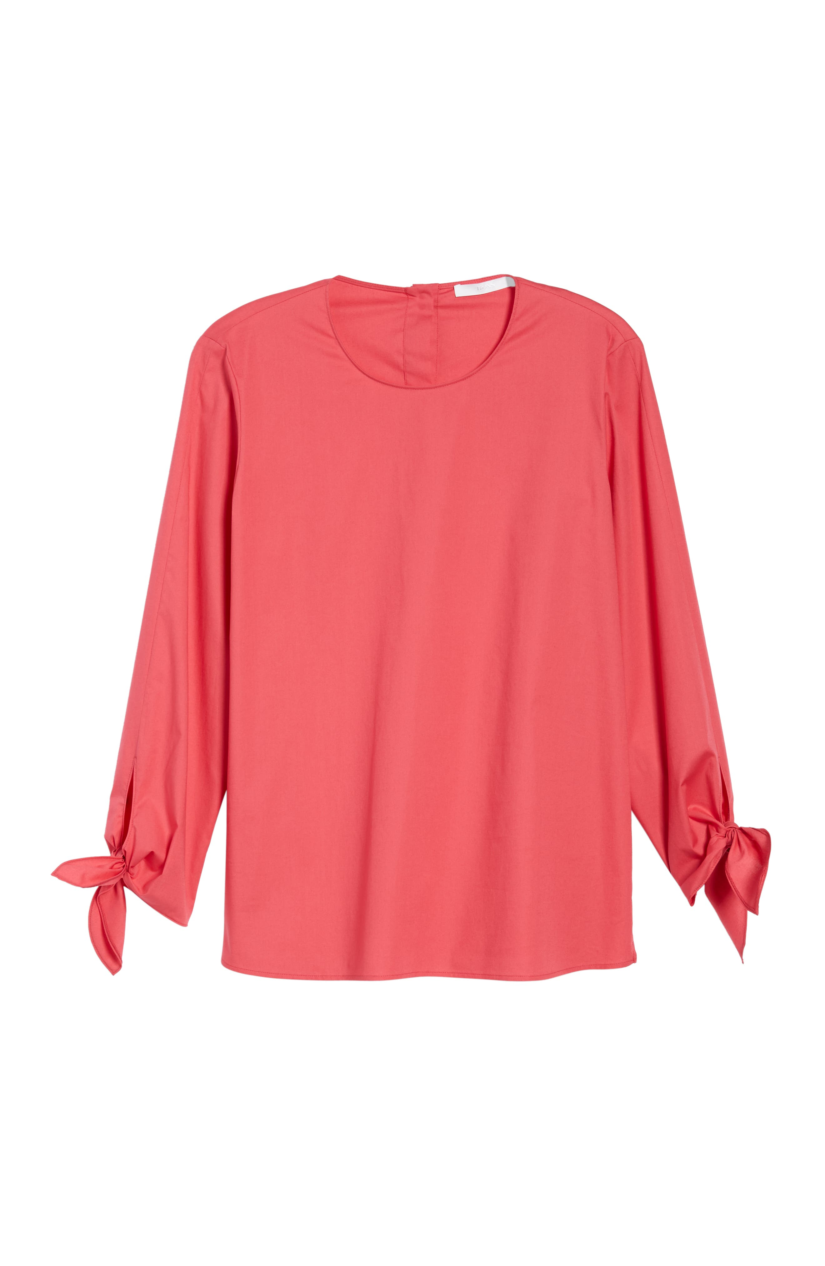Isolema Stretch Cotton Bow Sleeve Top,                             Alternate thumbnail 6, color,                             692