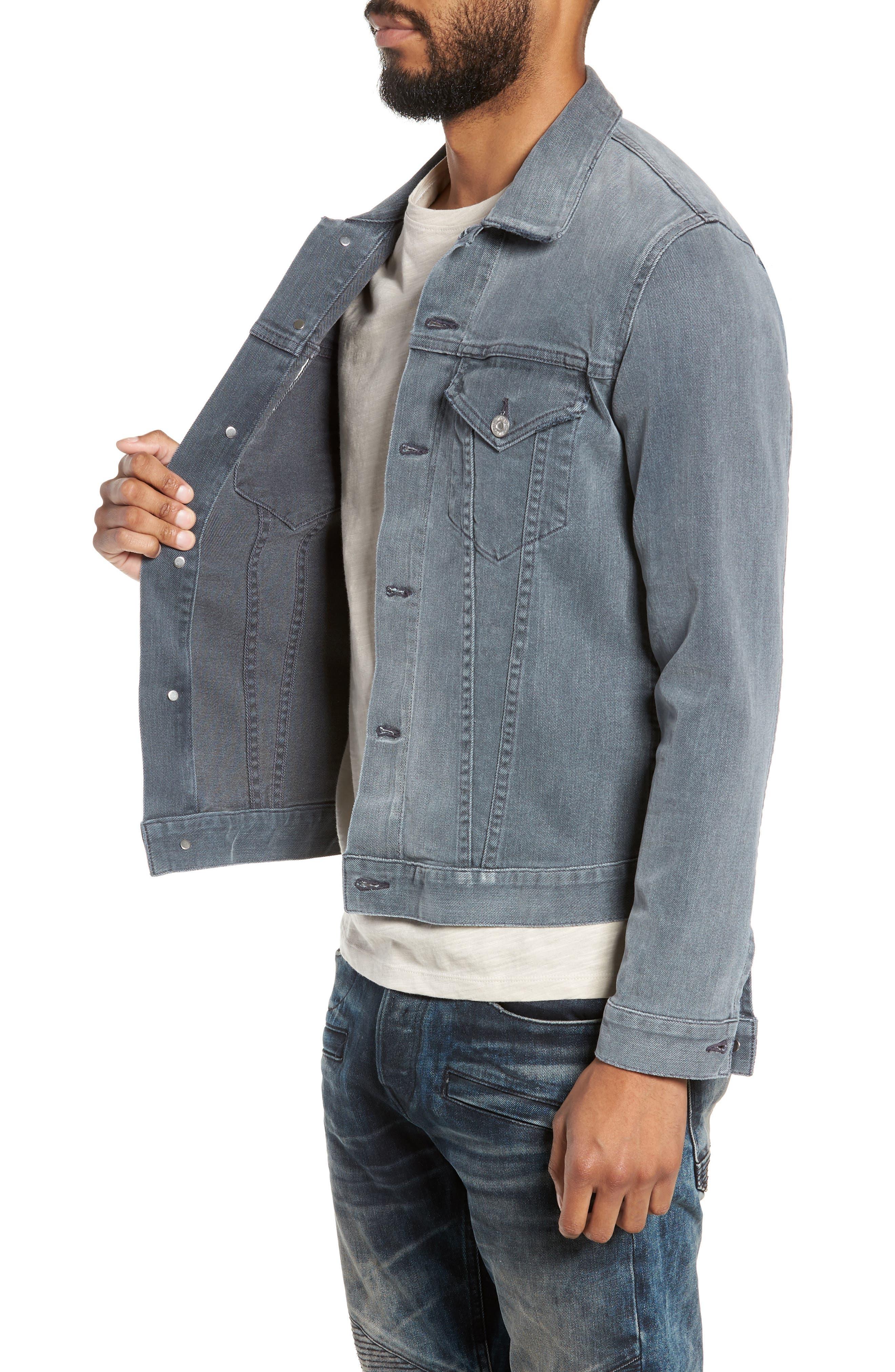 Classic Denim Jacket,                             Alternate thumbnail 3, color,                             VINTAGE GREY