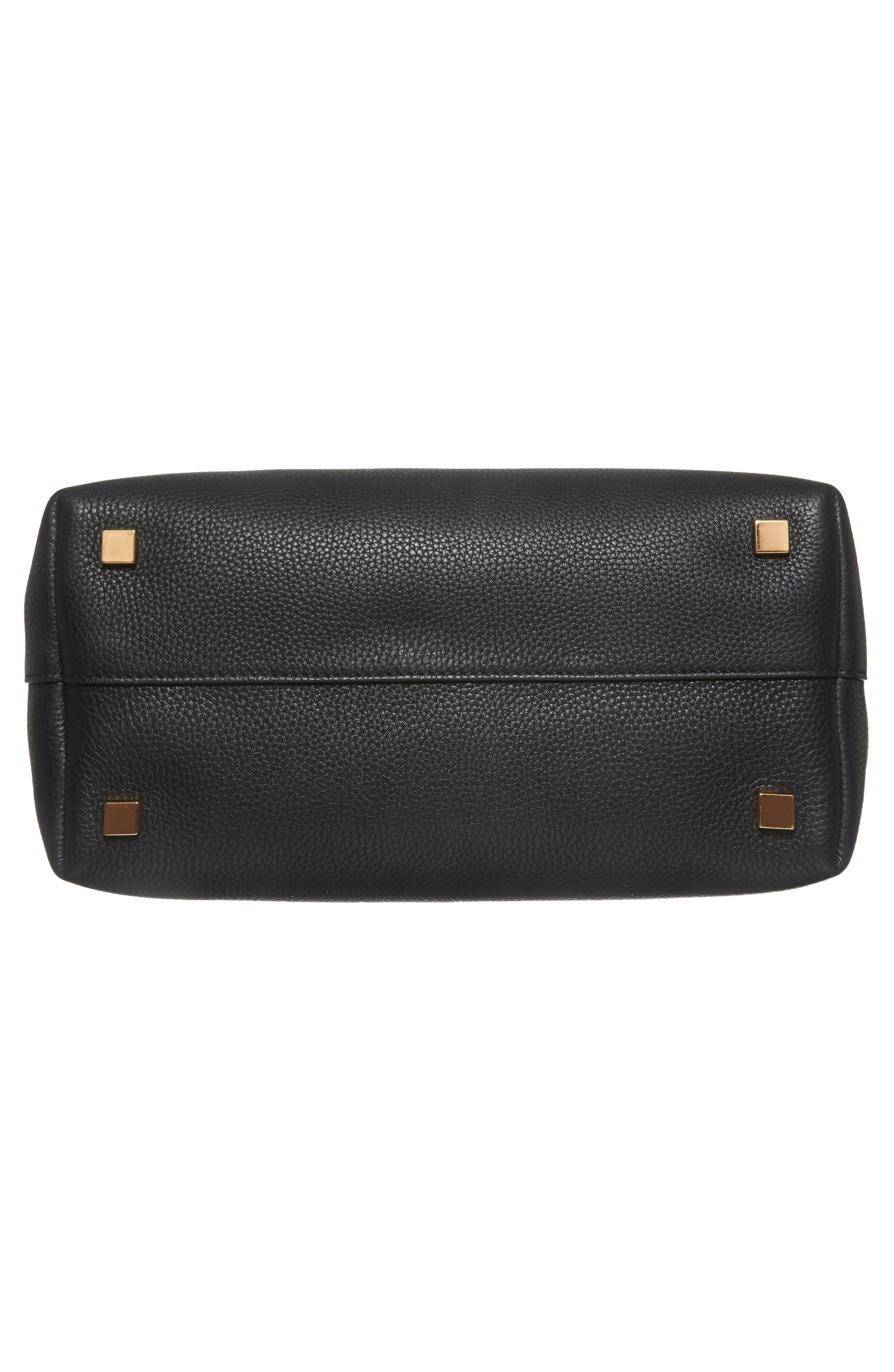 Large Bancroft Leather Tote,                             Alternate thumbnail 6, color,                             BLACK