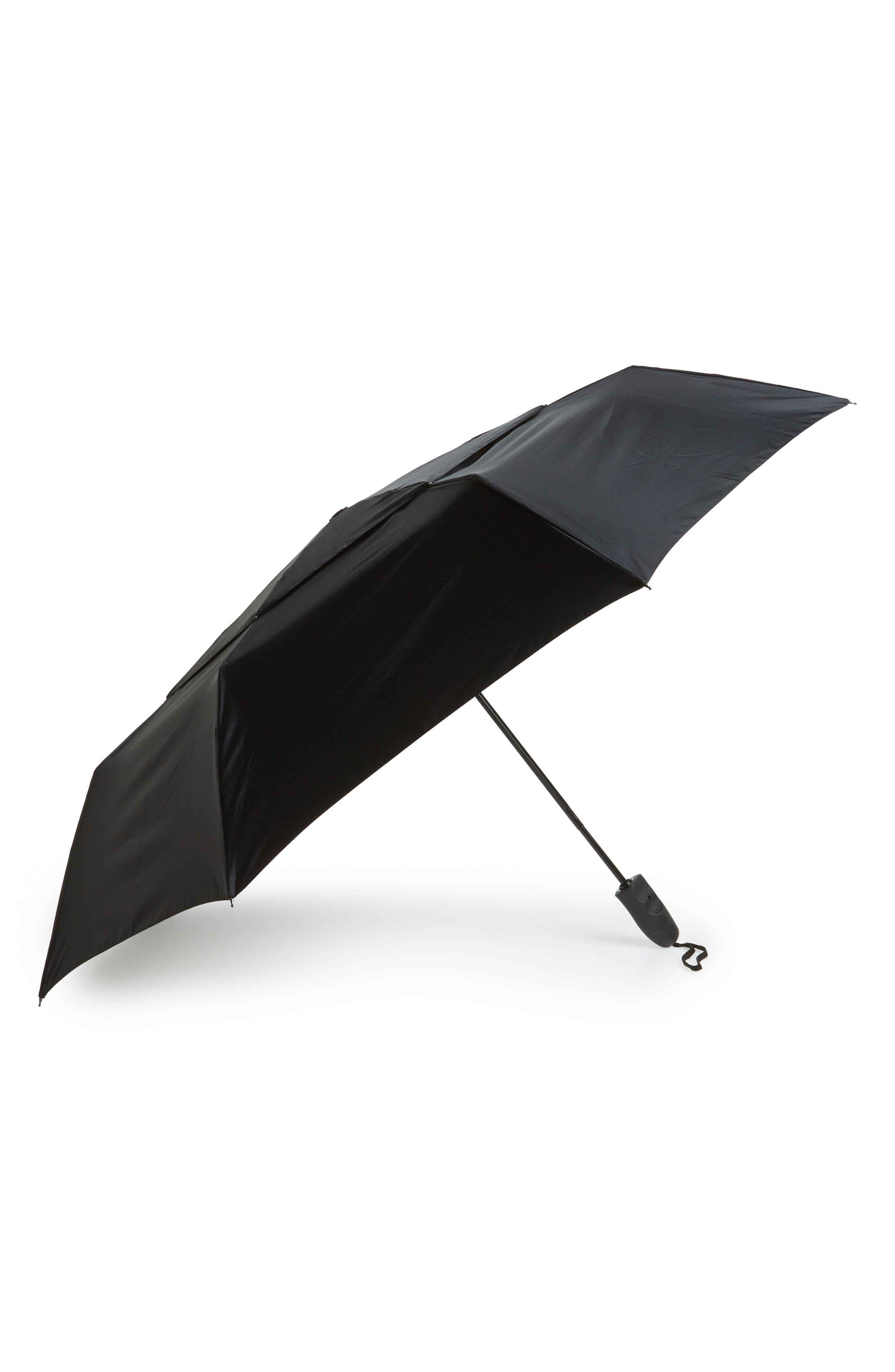 Telescoping Umbrella,                         Main,                         color, BLACK