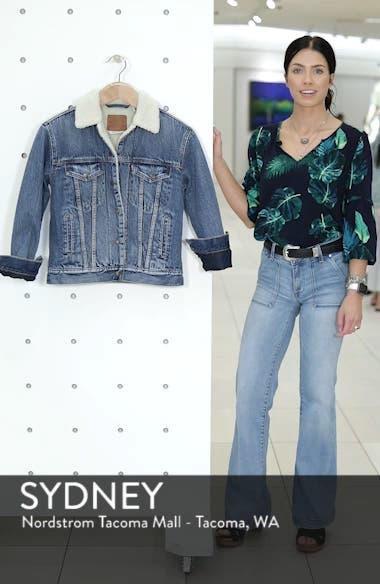 Ex-Boyfriend Fleece Lined Denim Jacket, sales video thumbnail