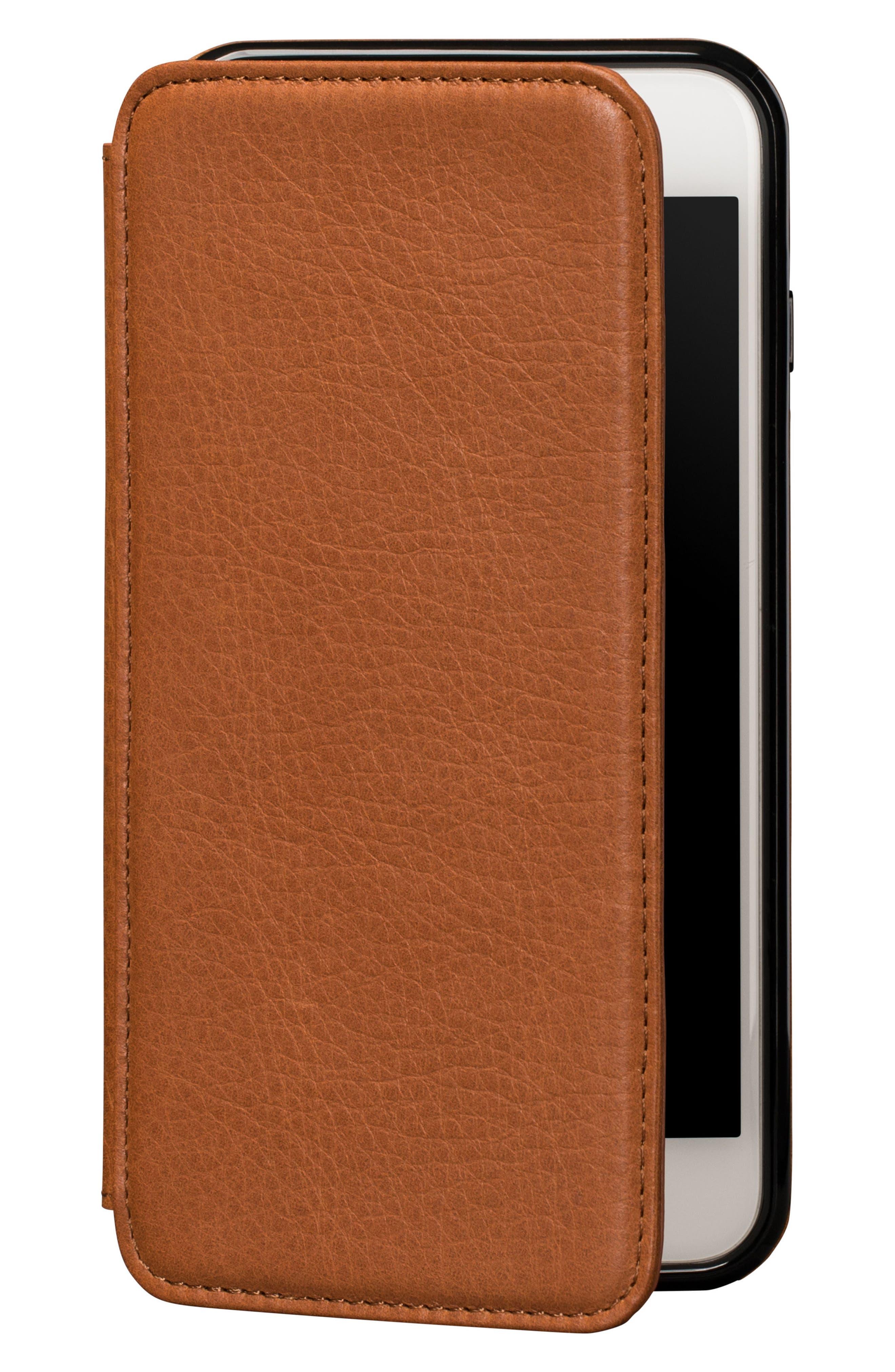 Bence iPhone 7/8 Plus Walletbook,                             Main thumbnail 1, color,                             SADDLE