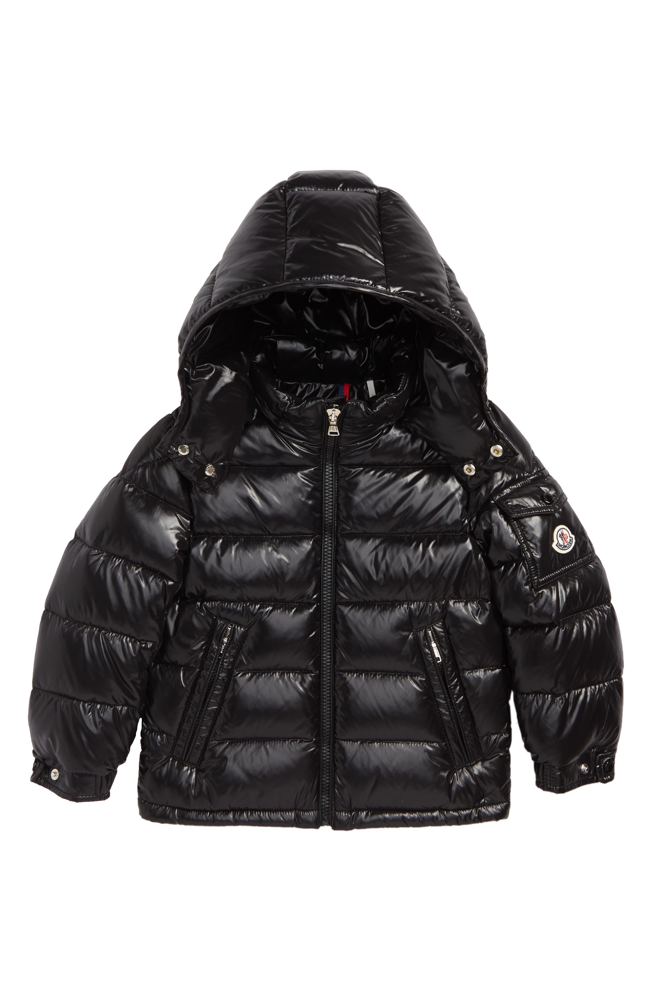 Maya Hooded Down Jacket,                             Main thumbnail 1, color,                             BLACK