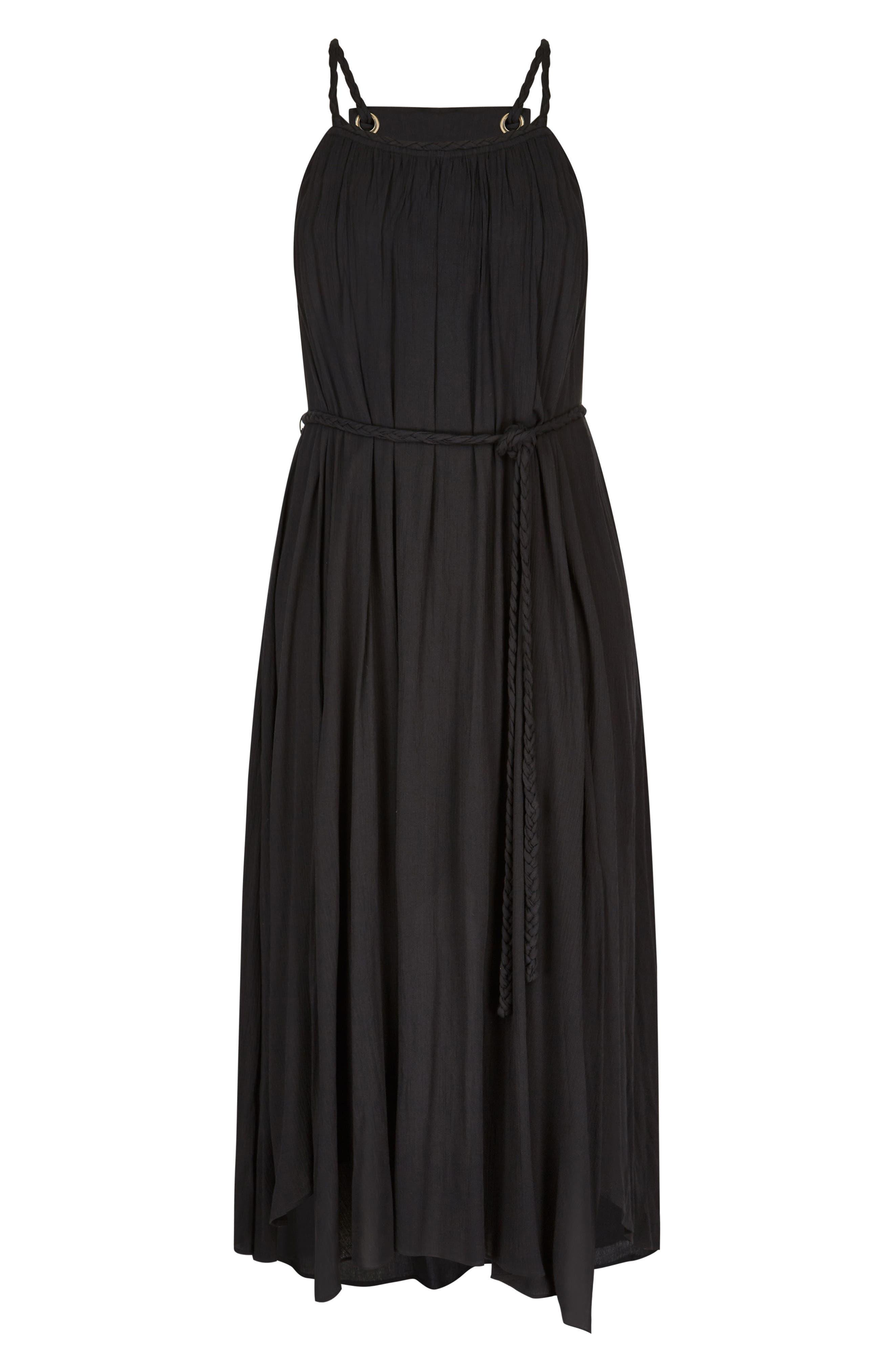 Happy Feels Maxi Dress,                             Alternate thumbnail 3, color,                             BLACK