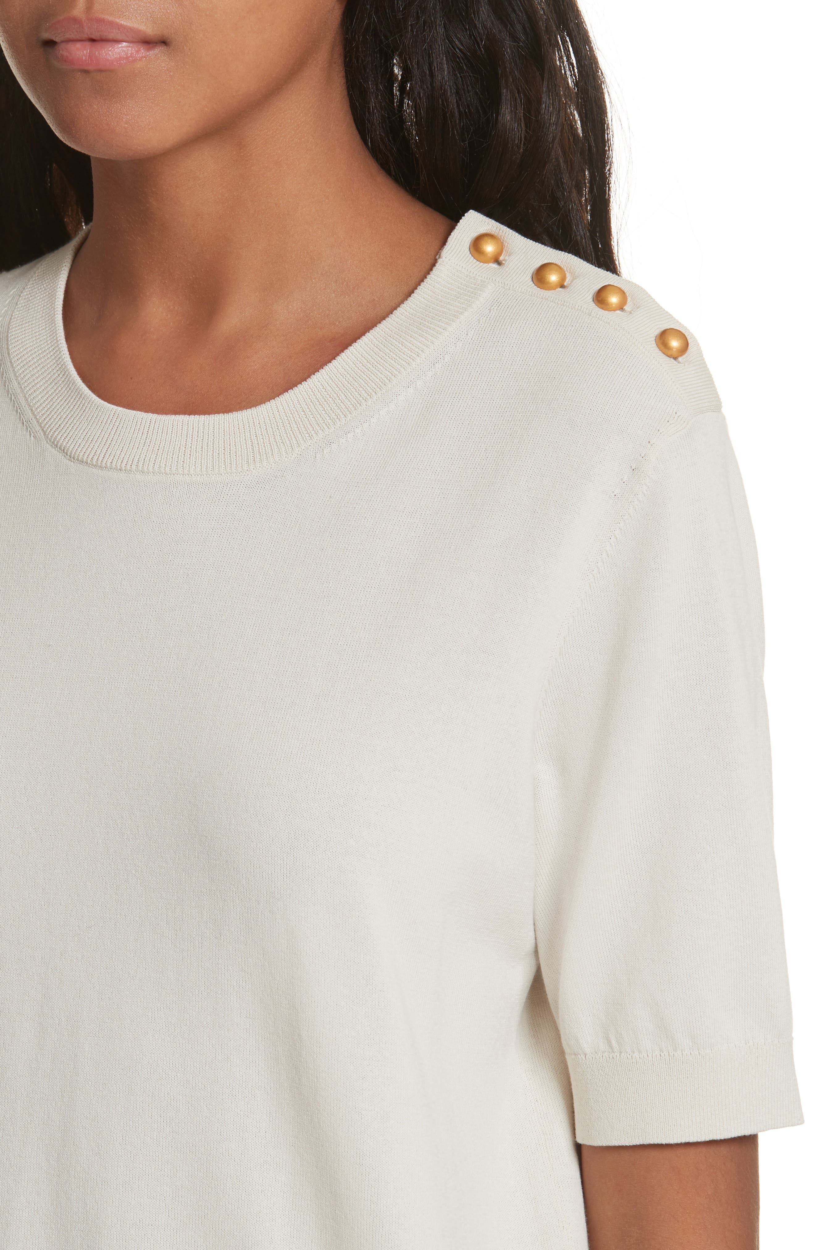 Preston Cotton Sweater,                             Alternate thumbnail 7, color,