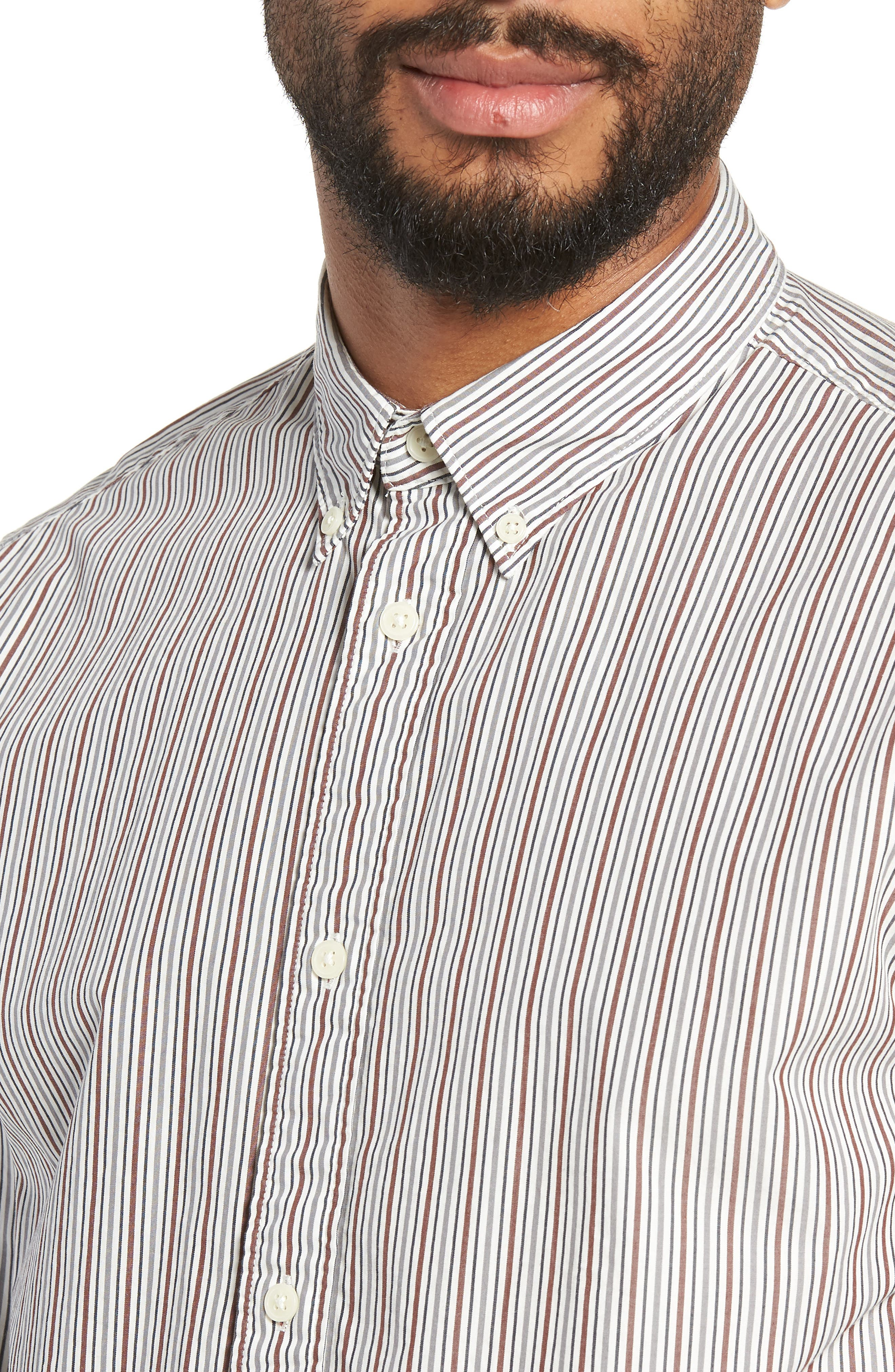 Carlo Regular Fit Stripe Sport Shirt,                             Alternate thumbnail 2, color,                             QUIET SHADE STRIPES