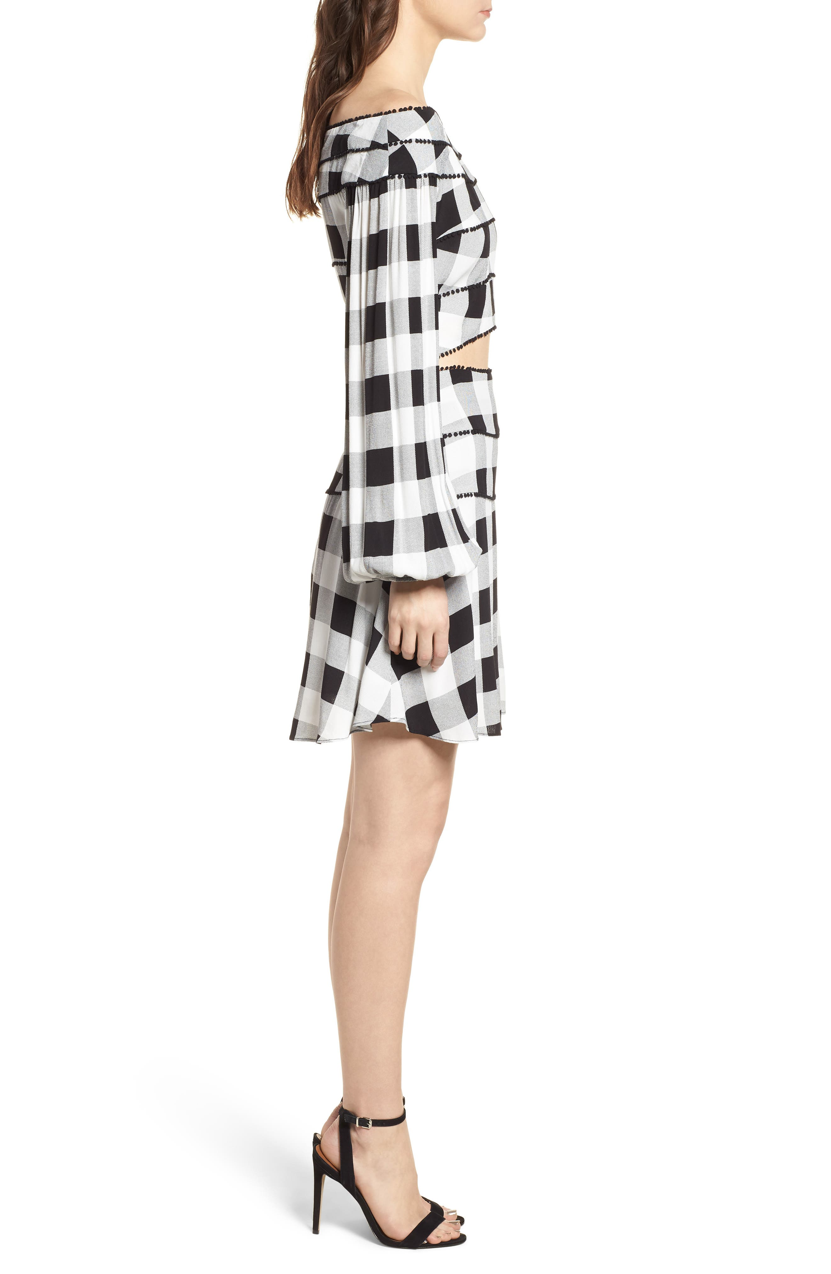 Bell High Waist Miniskirt,                             Alternate thumbnail 9, color,                             002