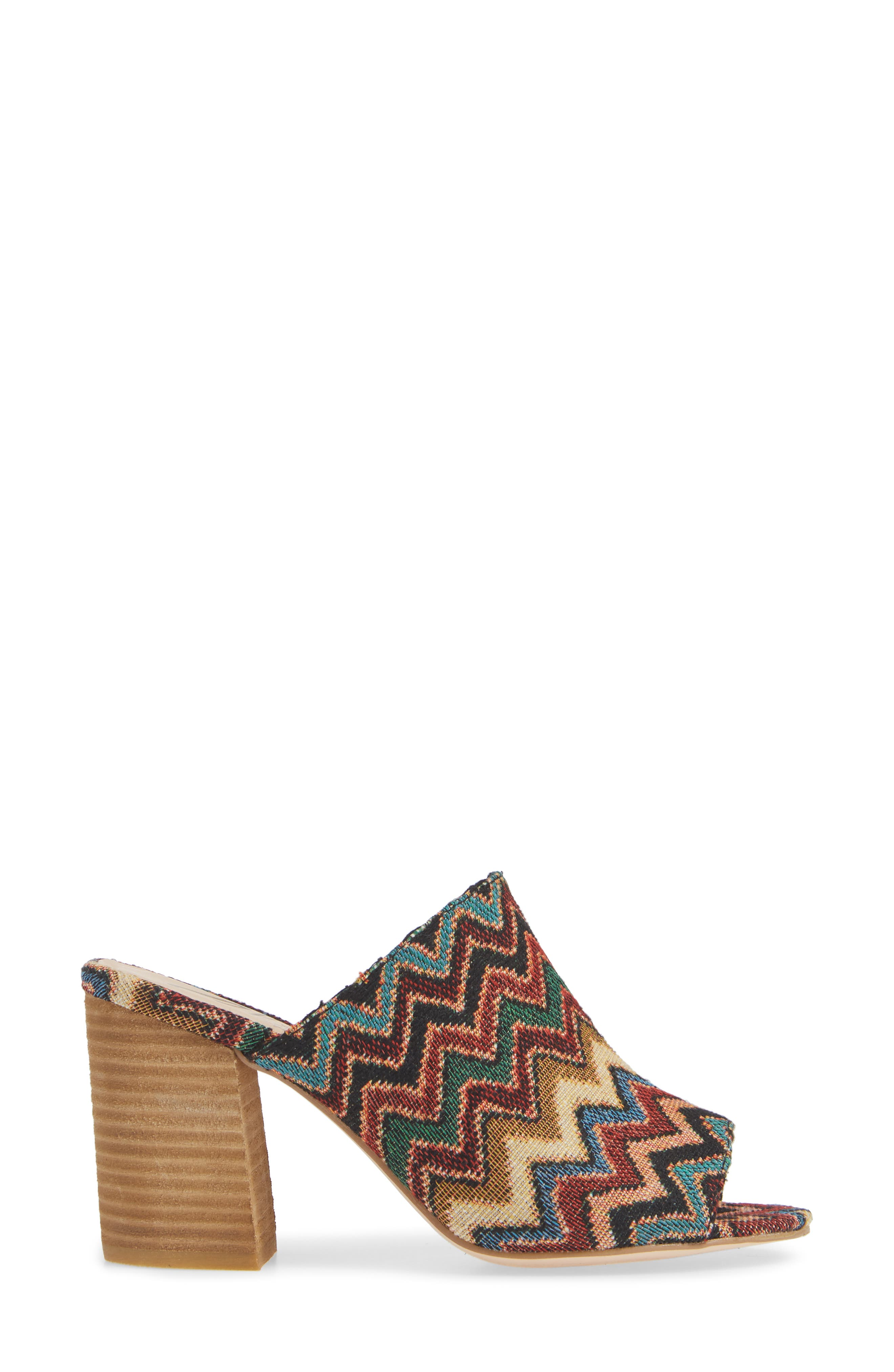 Helena Sandal,                             Alternate thumbnail 3, color,                             MULTICOLOR FABRIC