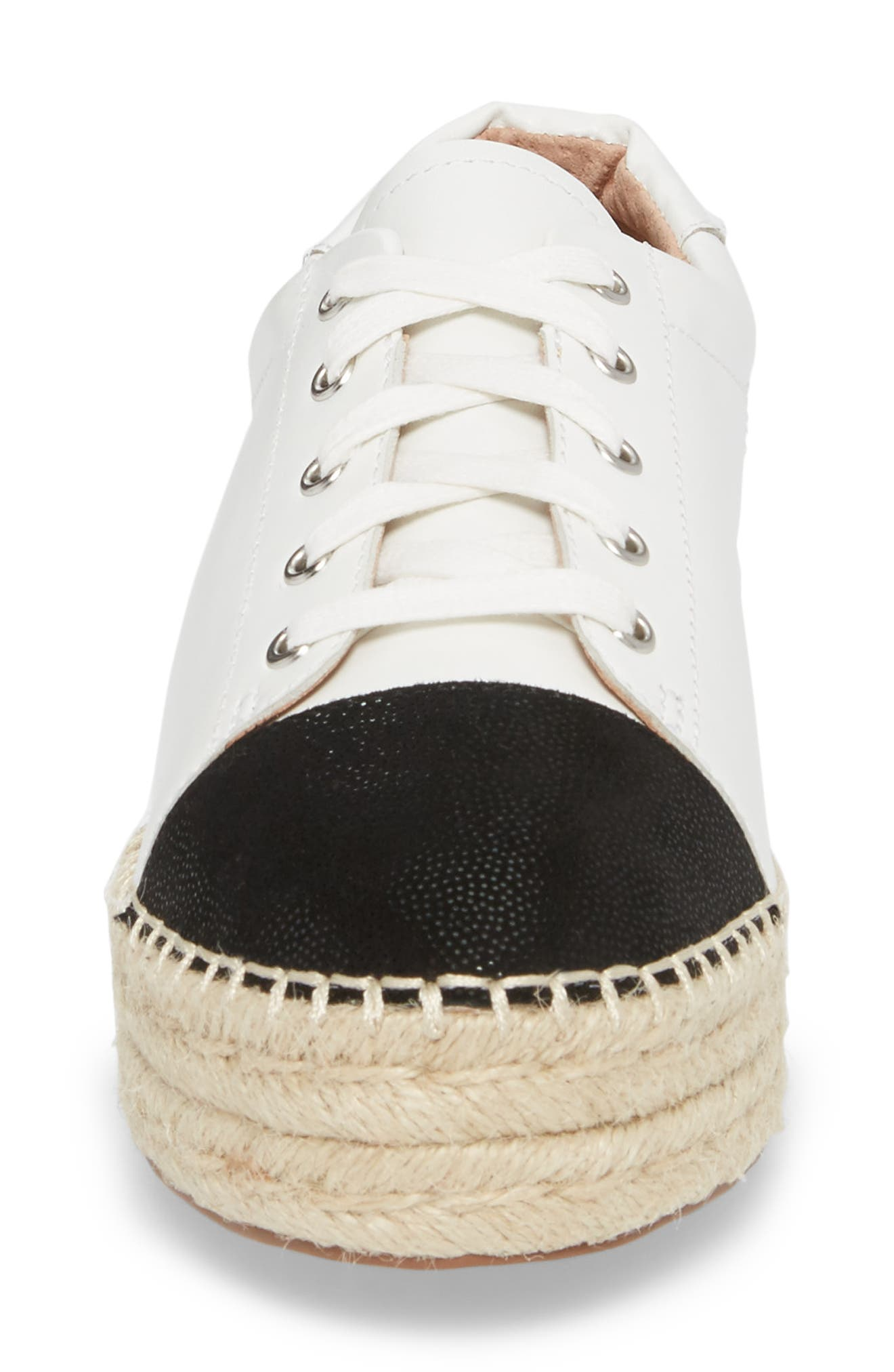 Sierra Espadrille Platform Sneaker,                             Alternate thumbnail 4, color,                             108