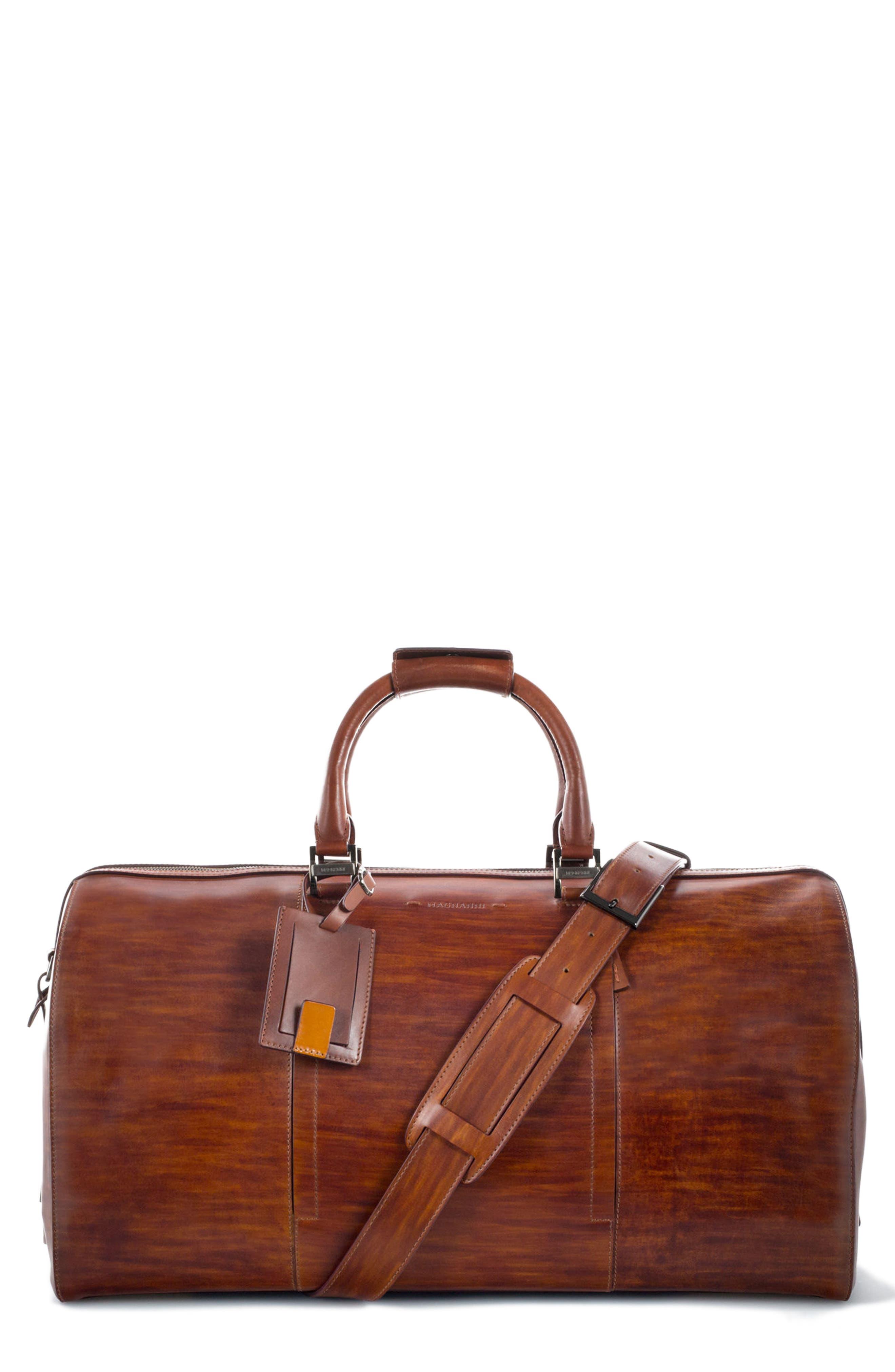 Traveler Leather Duffel Bag,                             Main thumbnail 3, color,