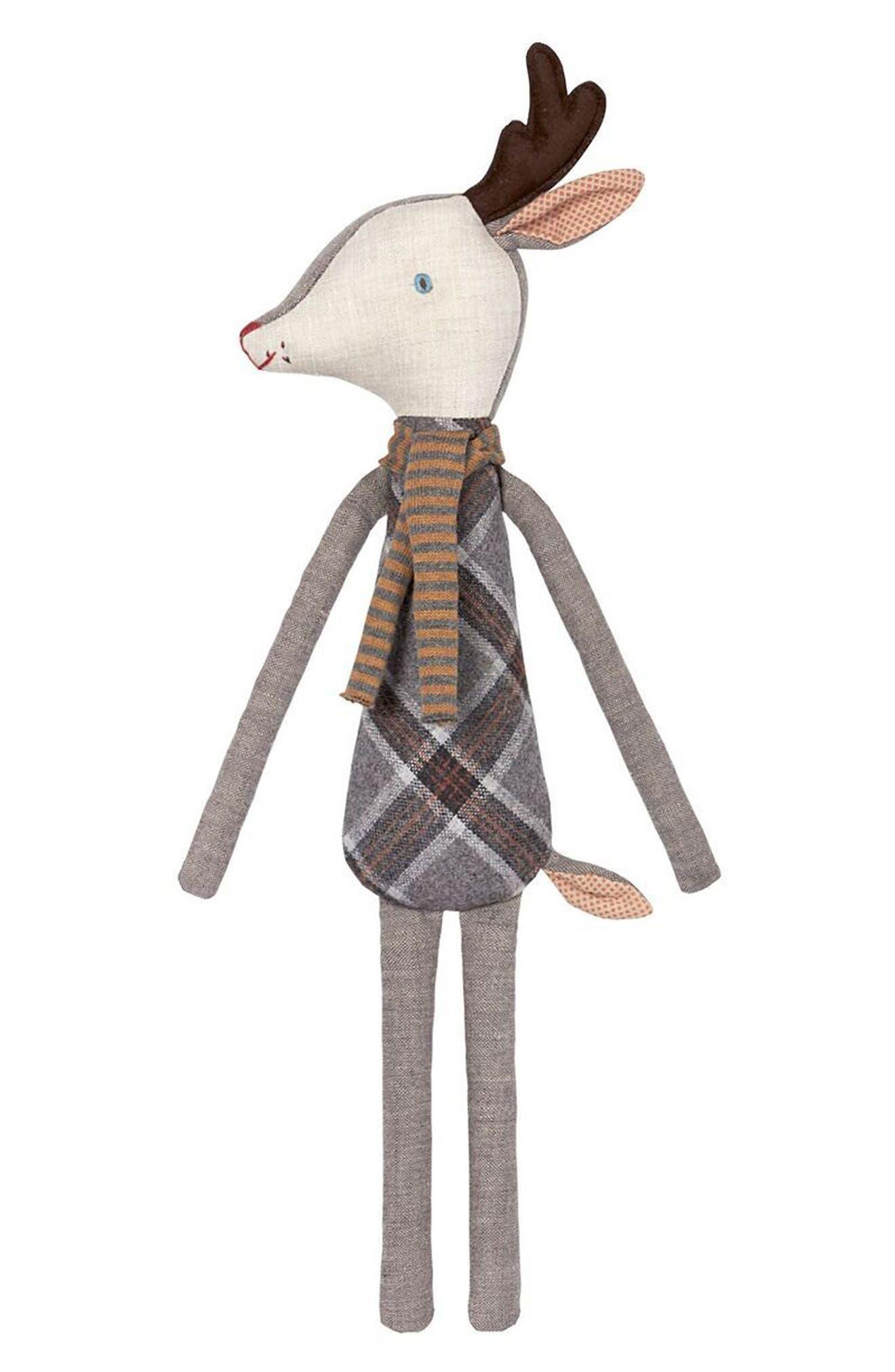 Sleepy-Wakey Reindeer Stuffed Animal,                             Main thumbnail 2, color,