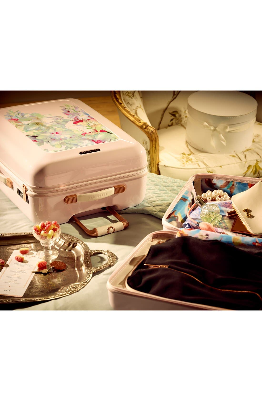 Small Hanging Gardens Four Wheel Suitcase,                             Alternate thumbnail 6, color,                             650