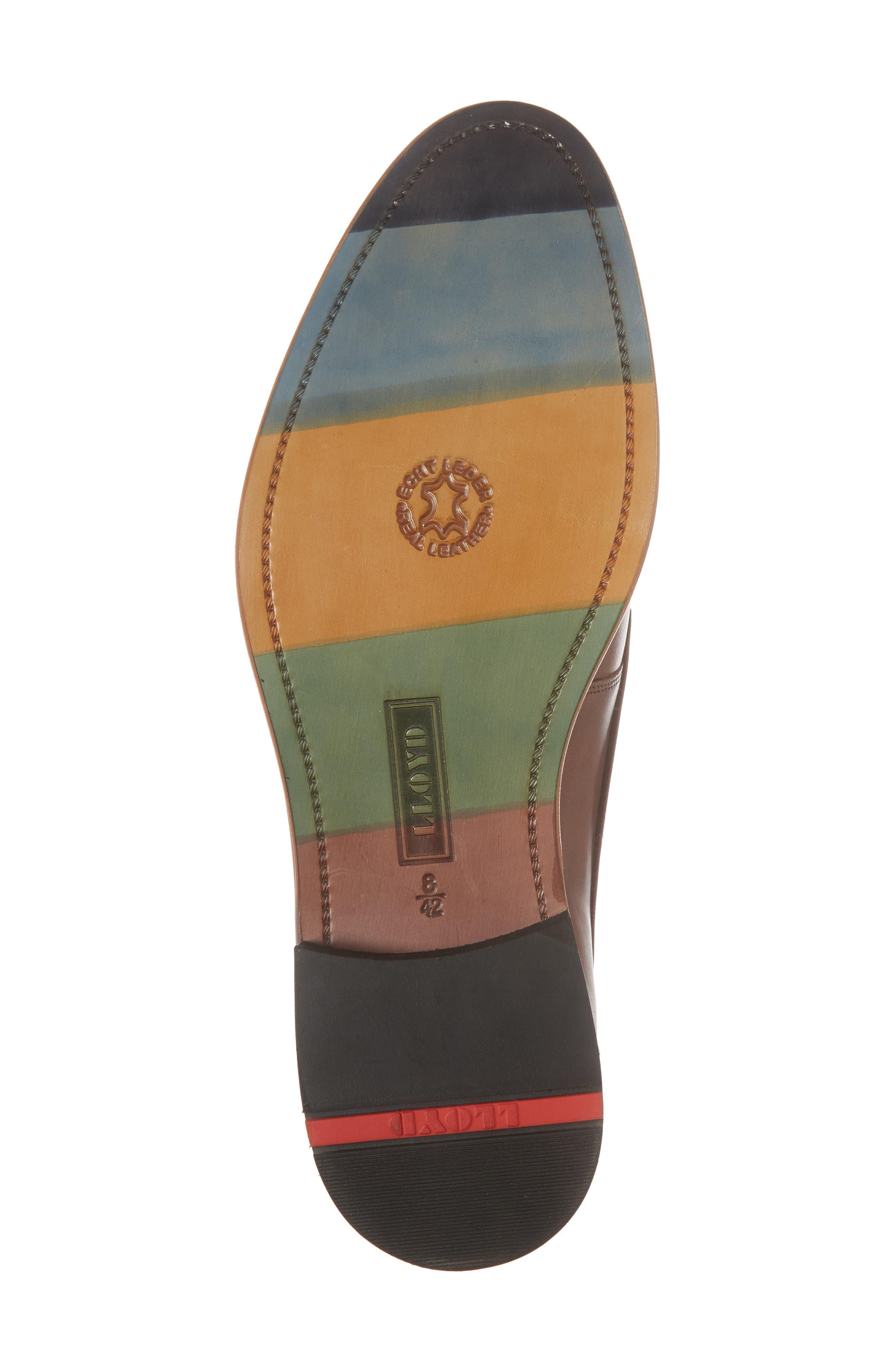Nansen Plain Toe Derby,                             Alternate thumbnail 6, color,                             COGNAC LEATHER