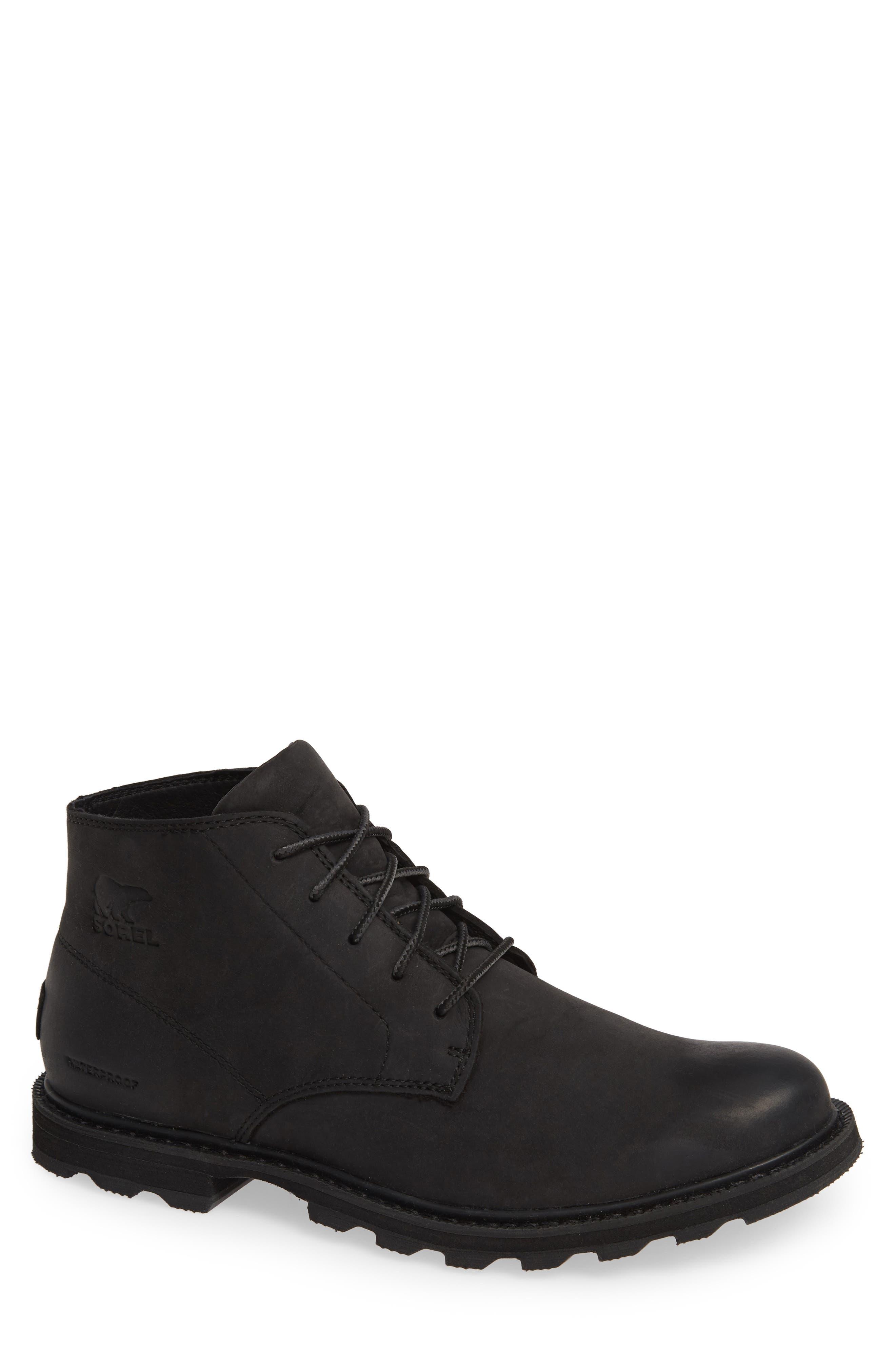 Madson Waterproof Boot,                         Main,                         color, BLACK/ BLACK