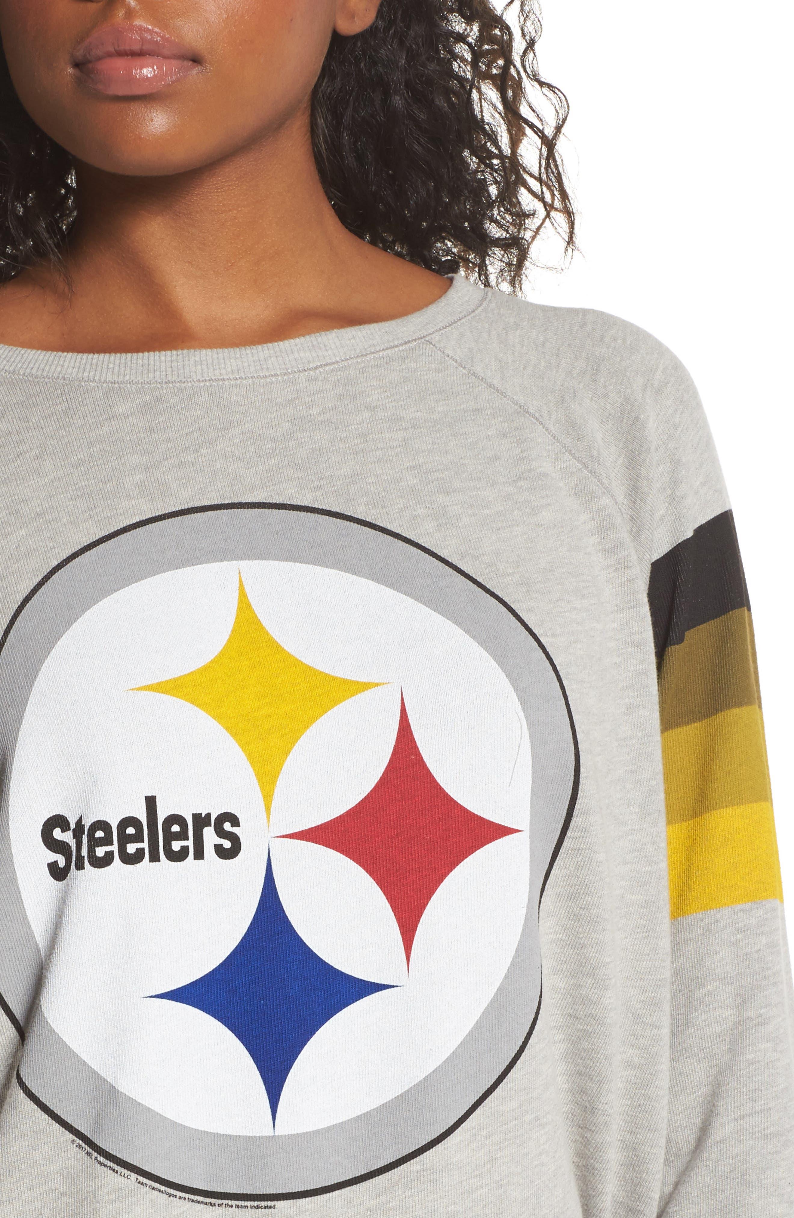NFL Pittsburgh Steelers Hacci Sweatshirt,                             Alternate thumbnail 4, color,                             030