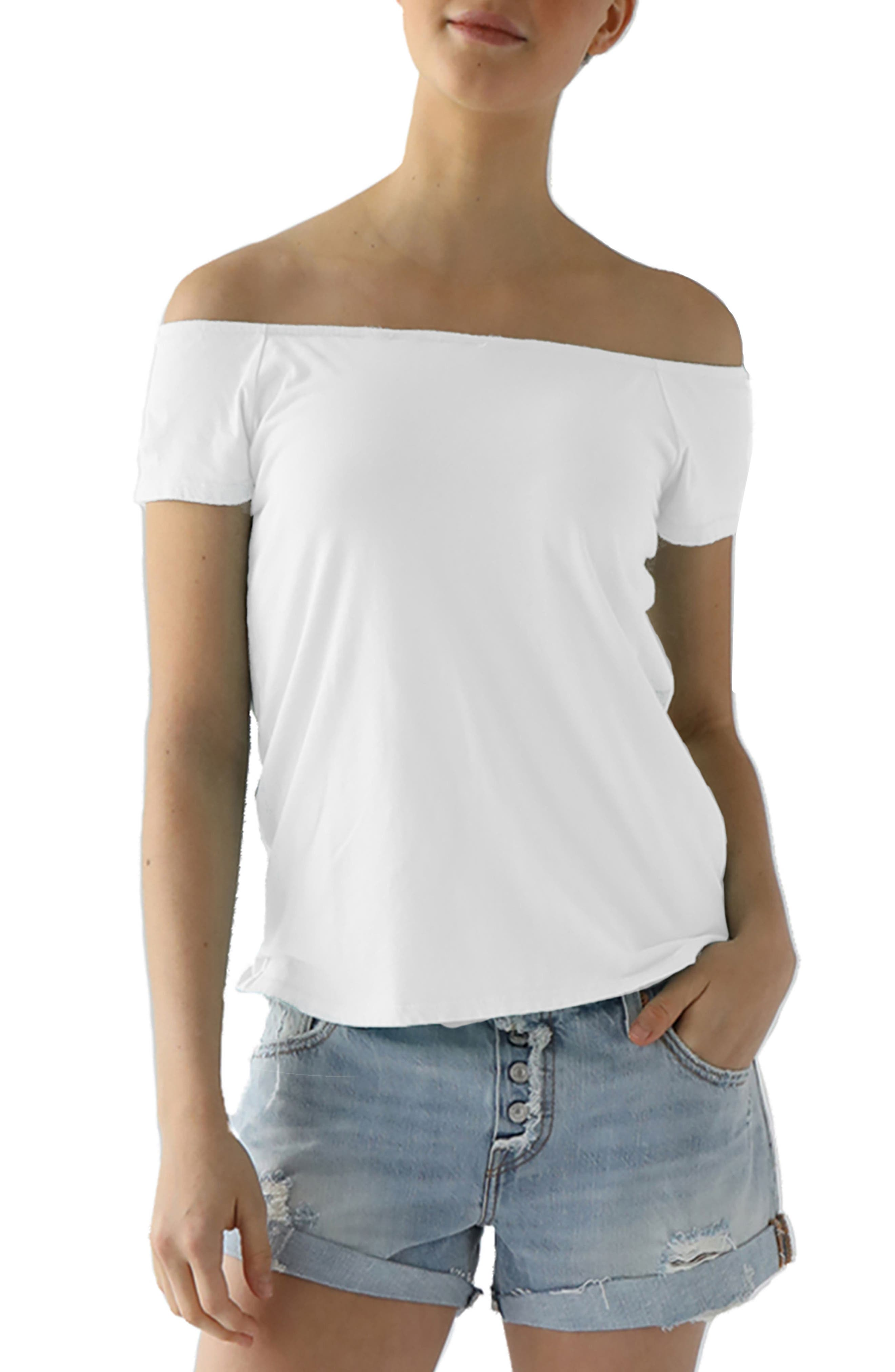 Imelda Tissue Jersey Off the Shoulder Tee,                             Main thumbnail 2, color,