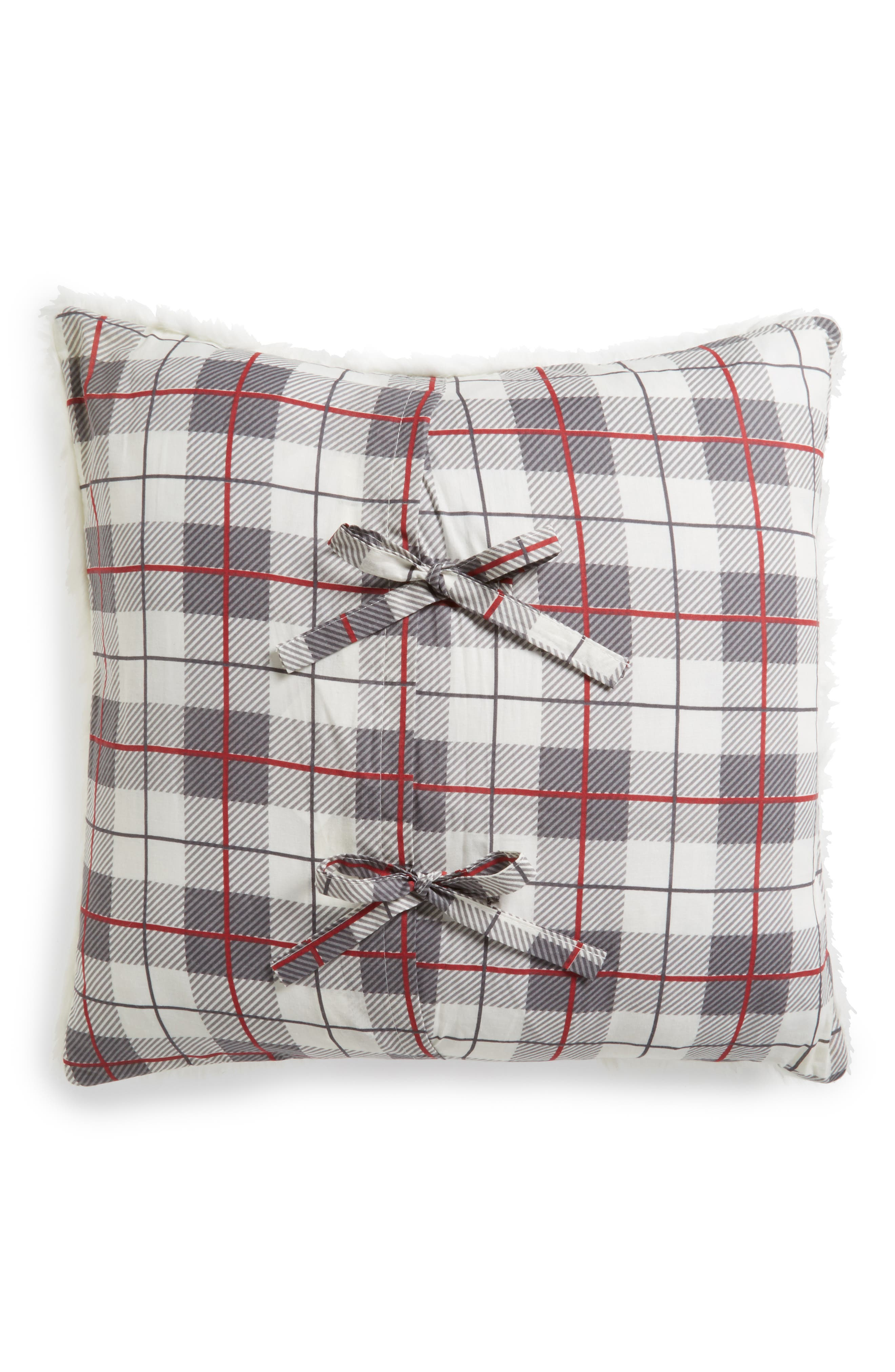 Plaid Reindeer Pillow,                             Alternate thumbnail 2, color,                             100